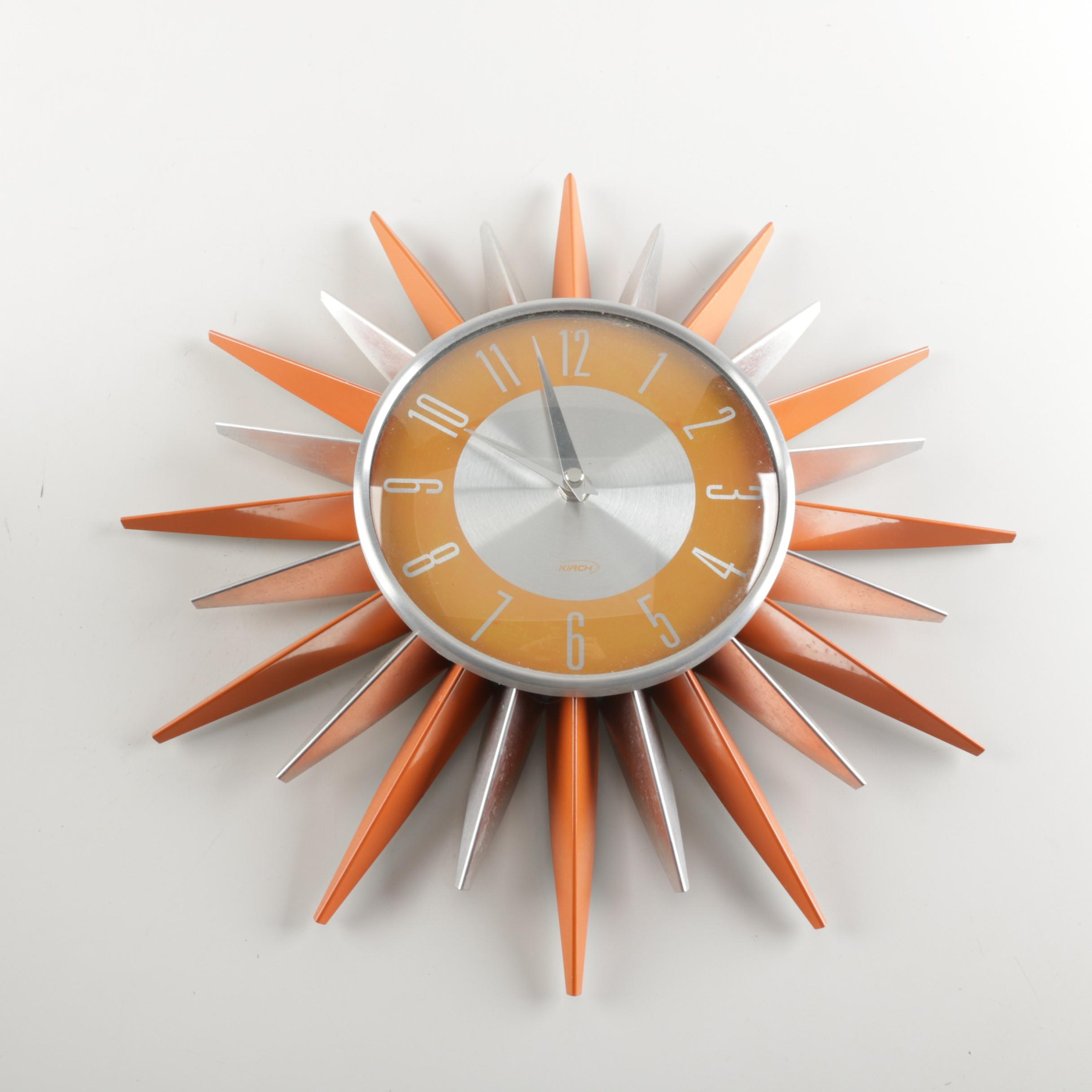 Kirch Reproduction Atomic Sun Ray Wall Clock