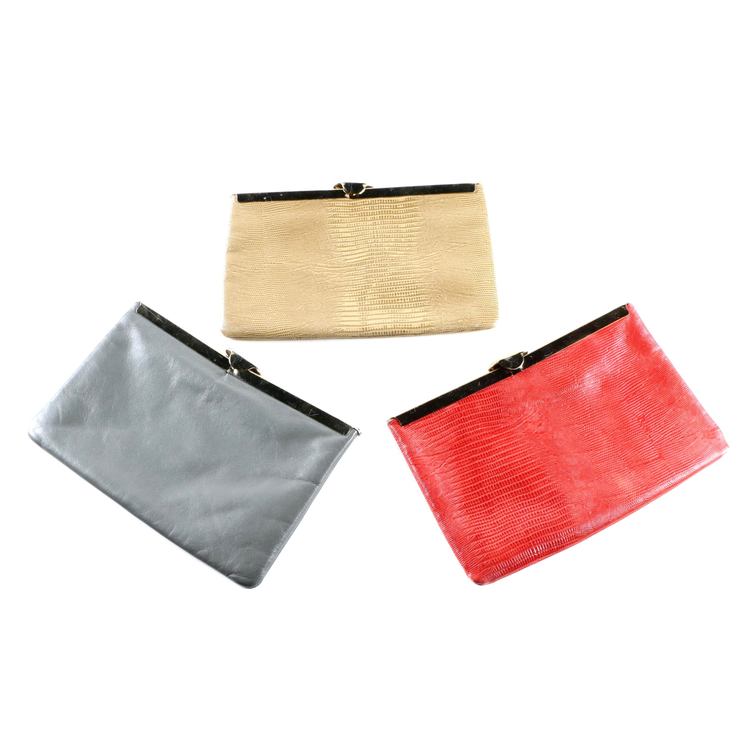 Vintage Etra Leather Clutches