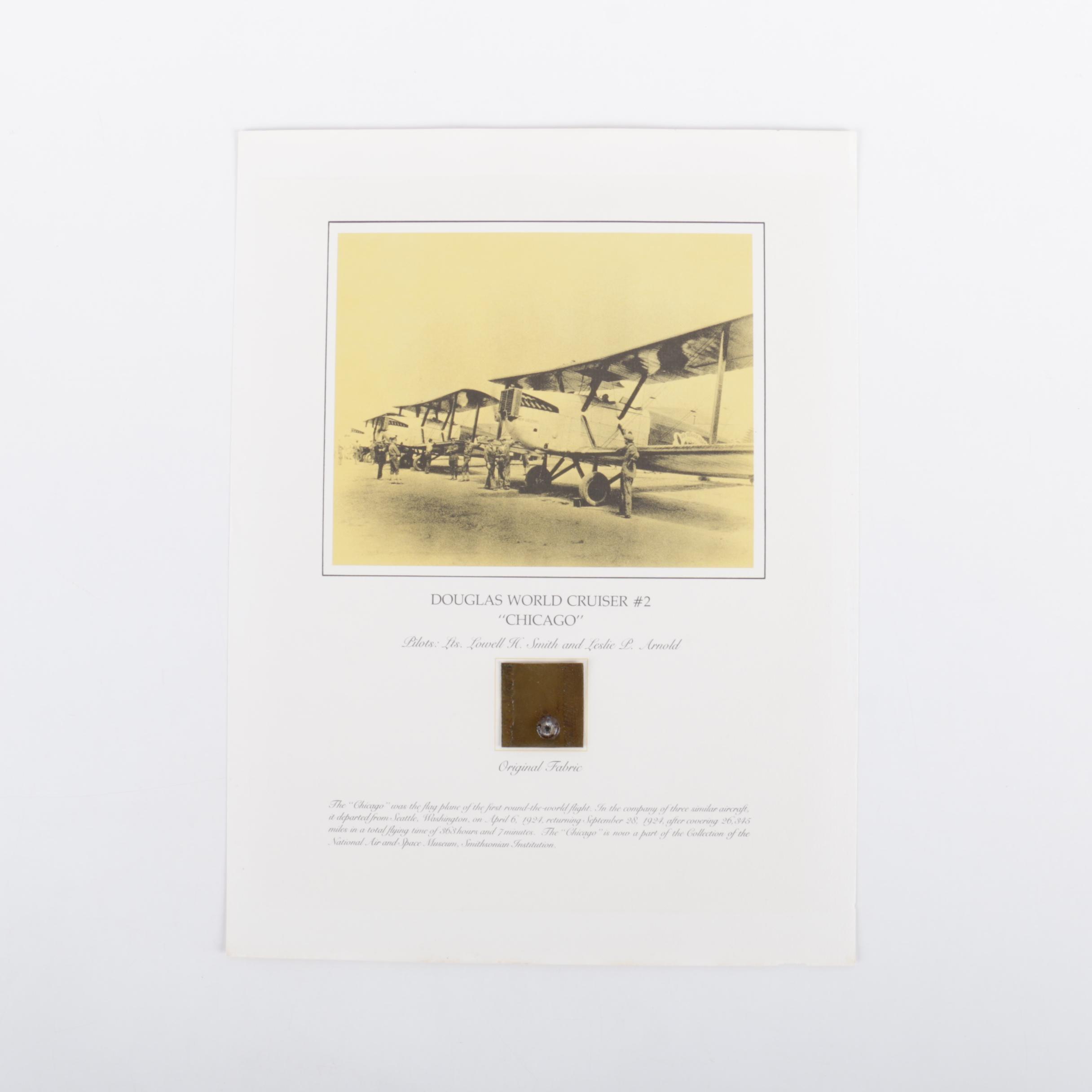 "Offset Lithograph on Paper ""Douglas World Cruiser #2 - Chicago"""