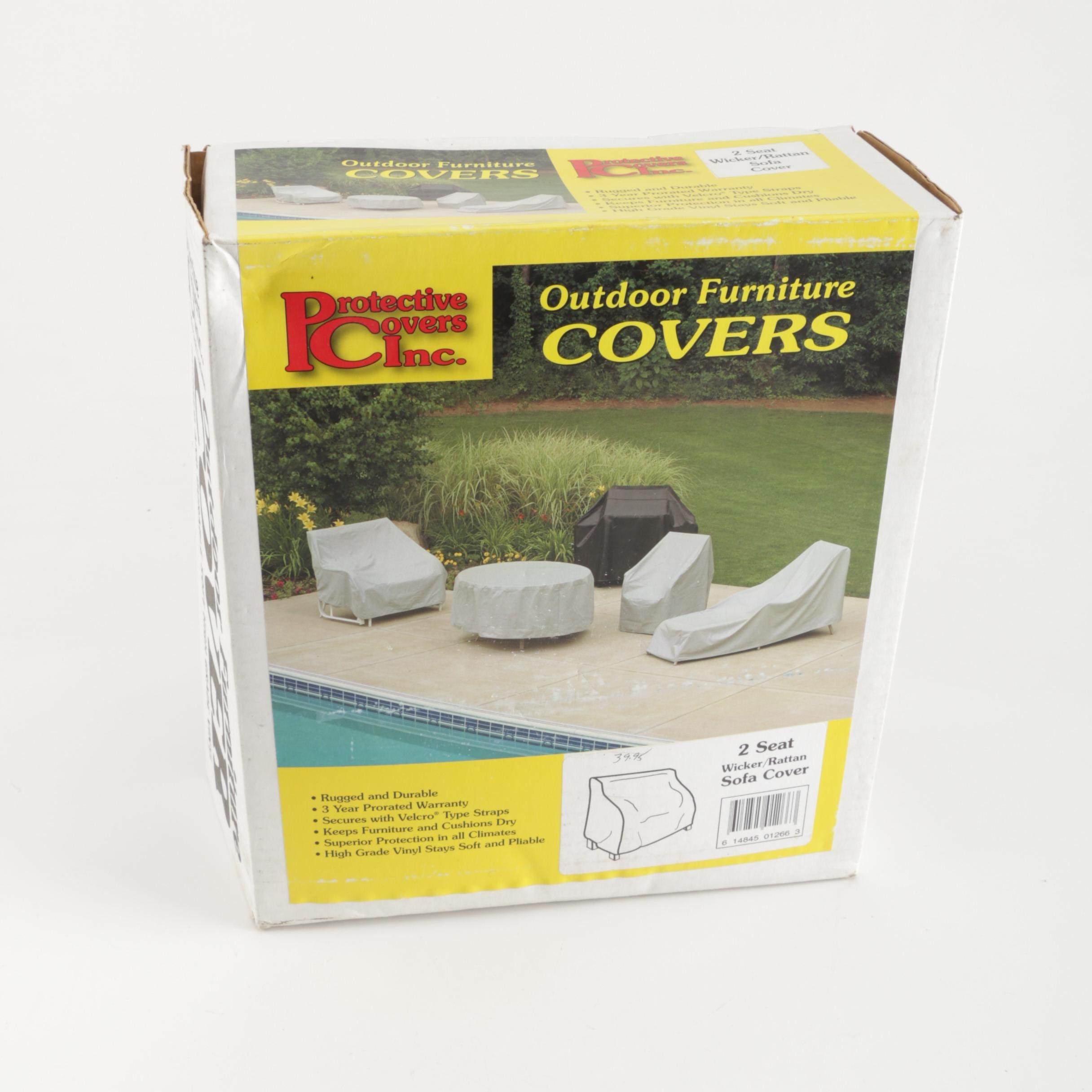 Protective Covers Inc. Outdoor Two-Seat Sofa Furniture Cover