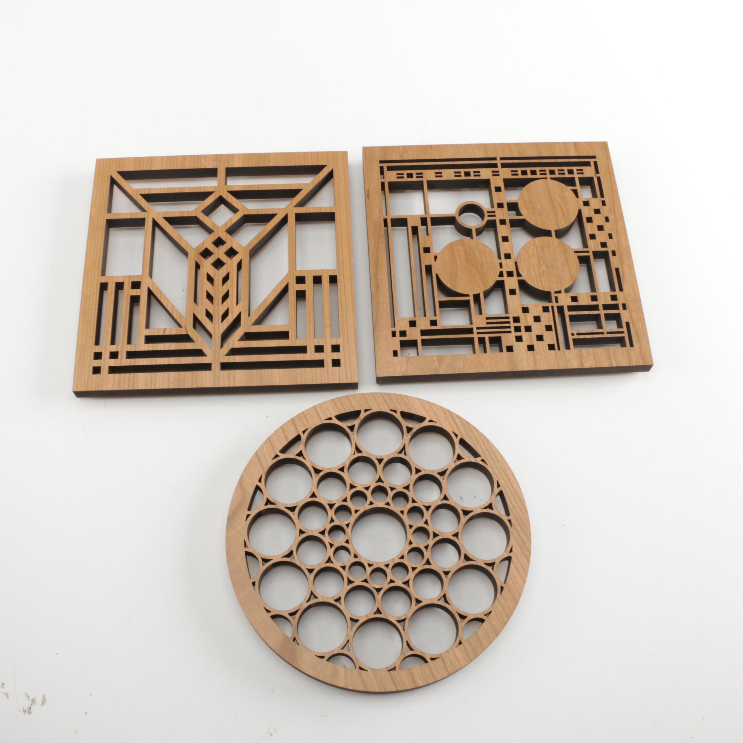Three Pieces of Wood Wall Decor