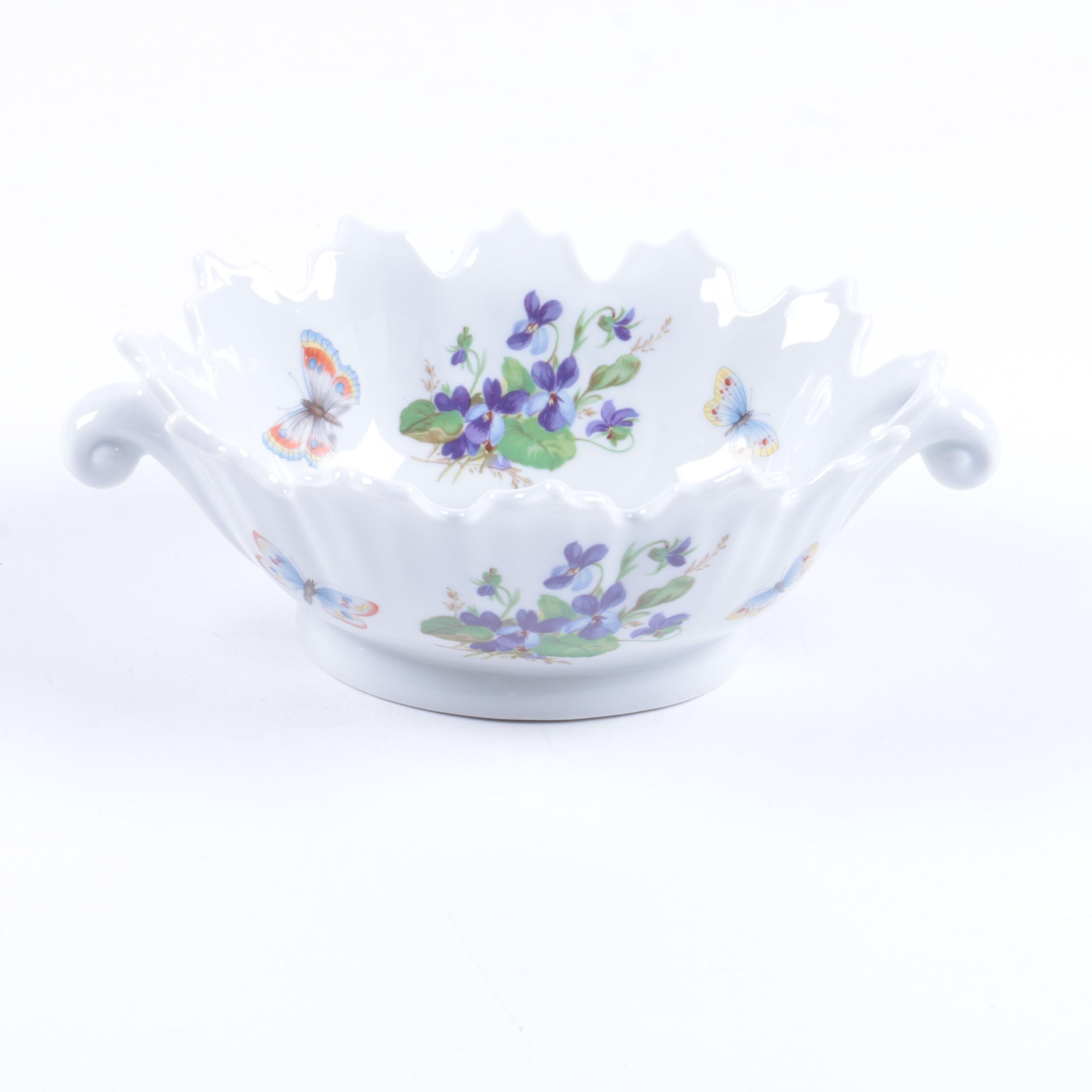 Vintage Limoges Castel Porcelain Candy Dish 1955-79