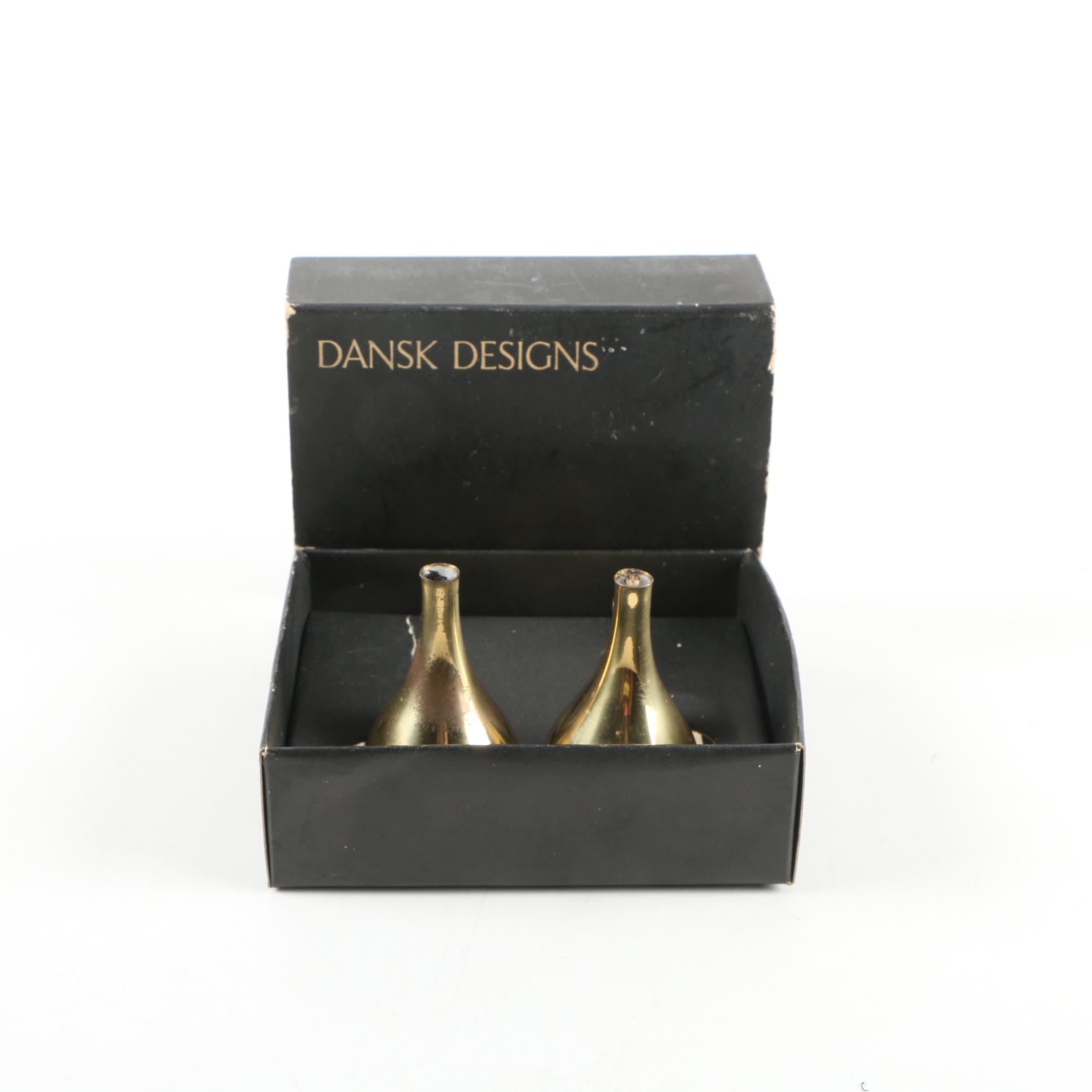 Vintage Dansk Designs Brass Bud Vases