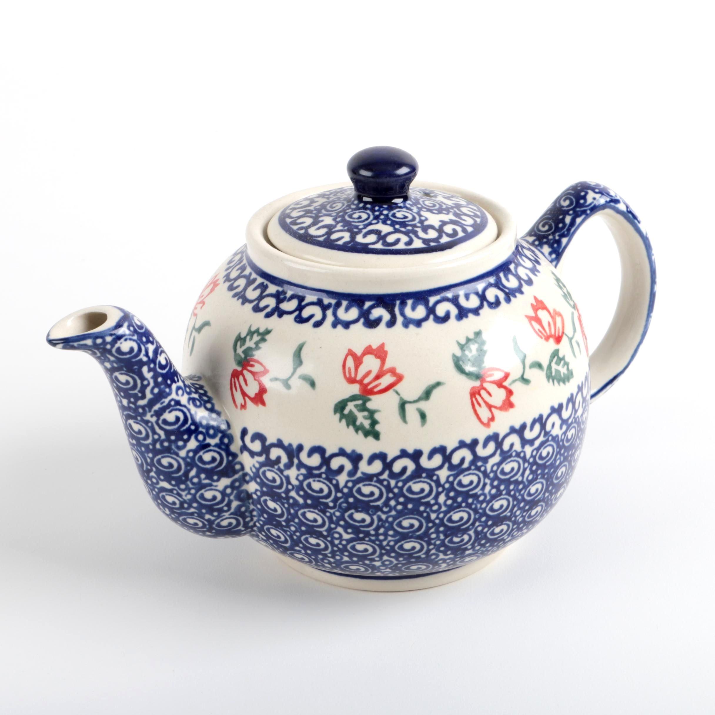Boleslawiec Polish Pottery Teapot