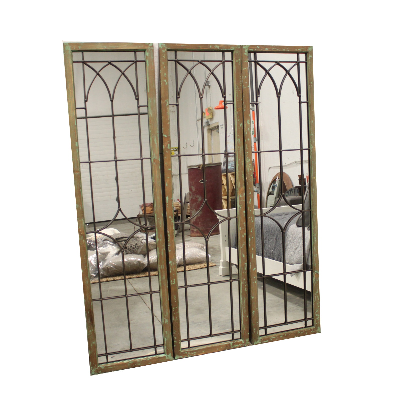 Leaded Glass Style Wall Mirrors