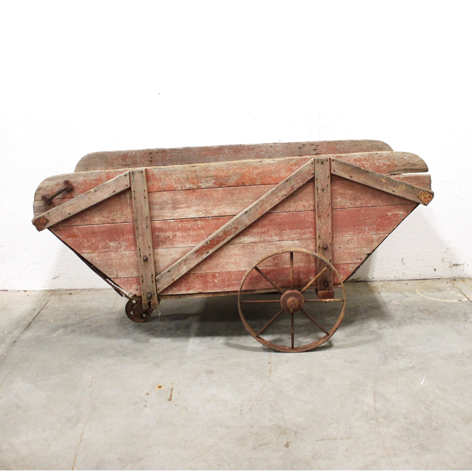 Vintage Painted Push Cart