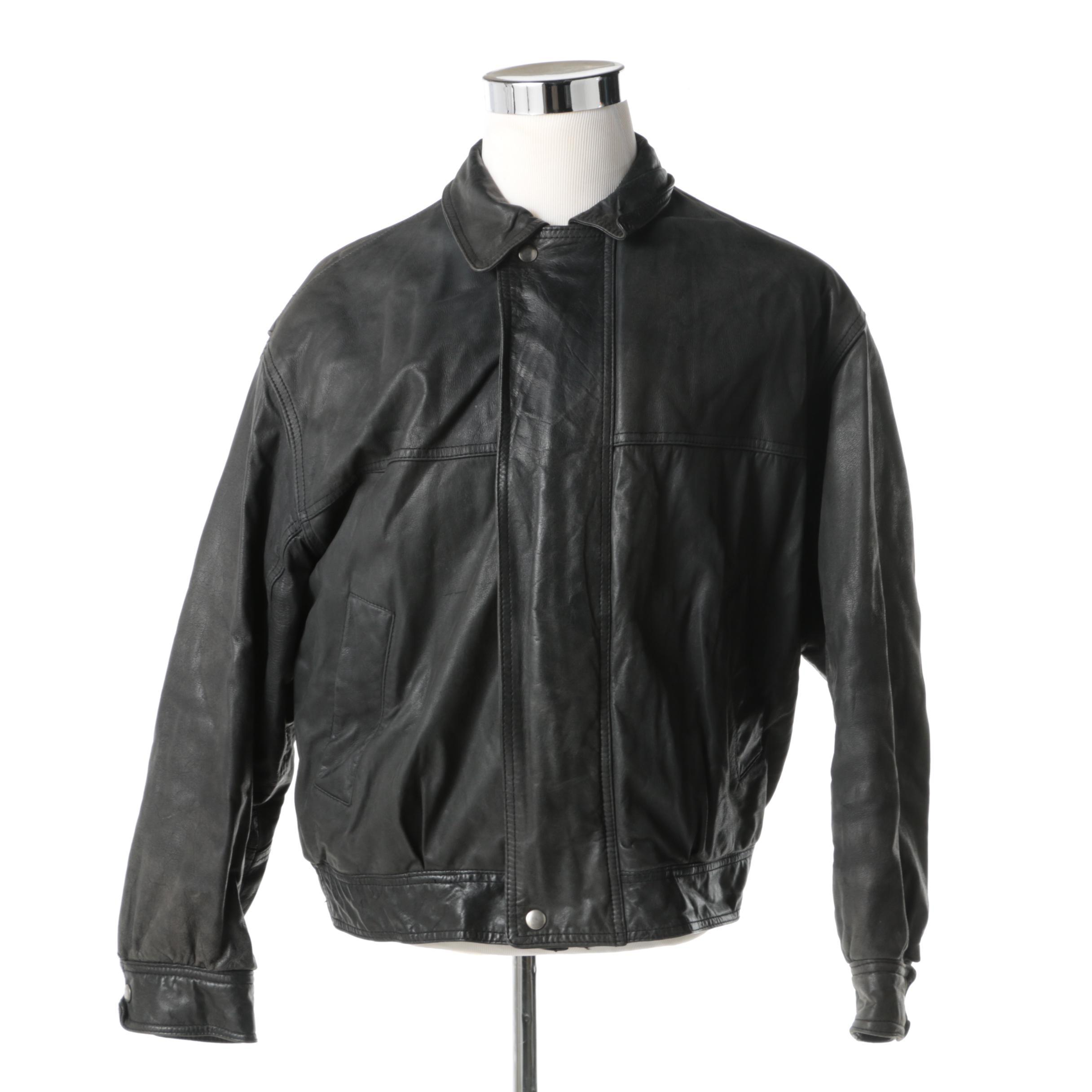 Men's Leather Jacket by Luis Alvear
