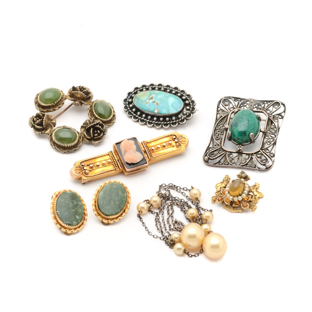 Vintage Sterling Silver and Costume Jewelry