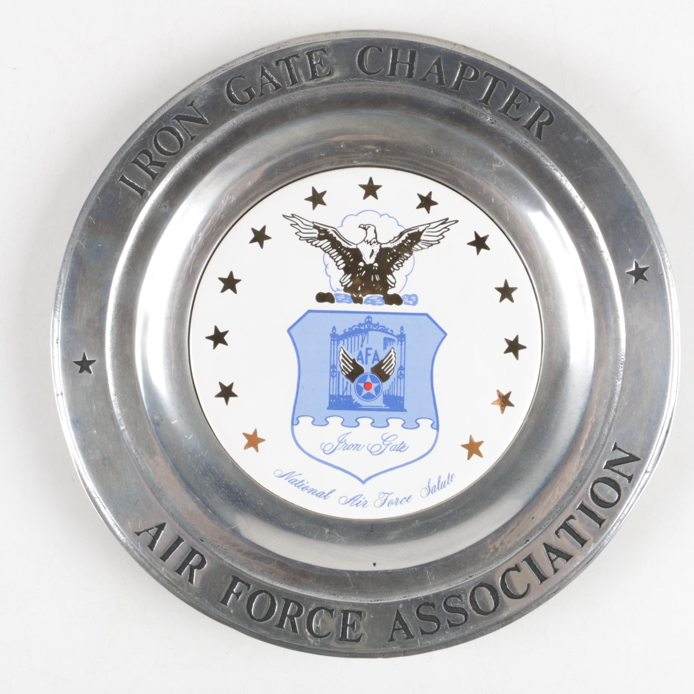 Air Force Iron Gate Pewter Plate