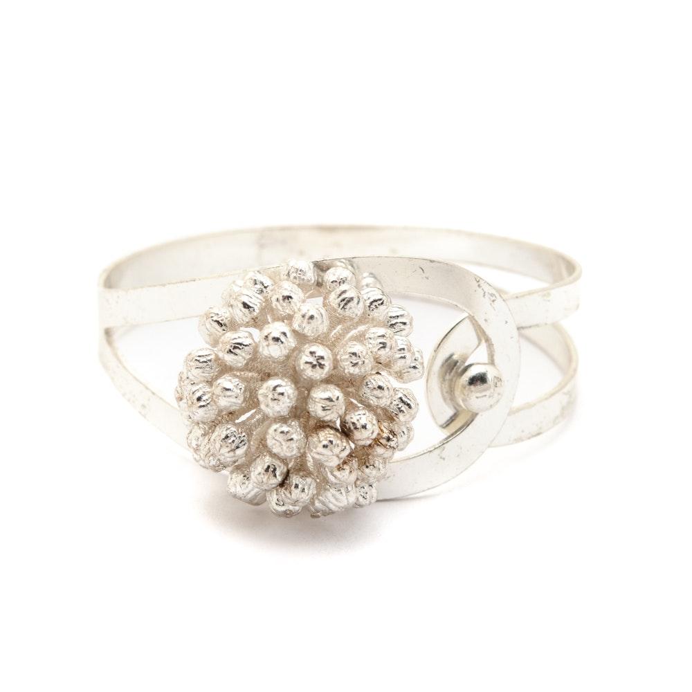 Vintage Sterling Silver Flora Danica Bracelet