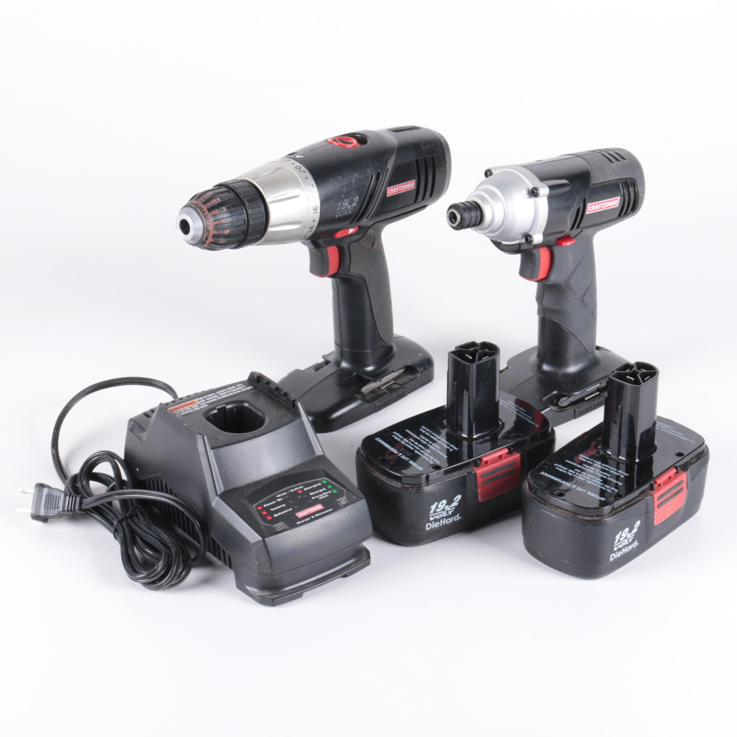 Pair of Craftsman Drills and Drill Chargers