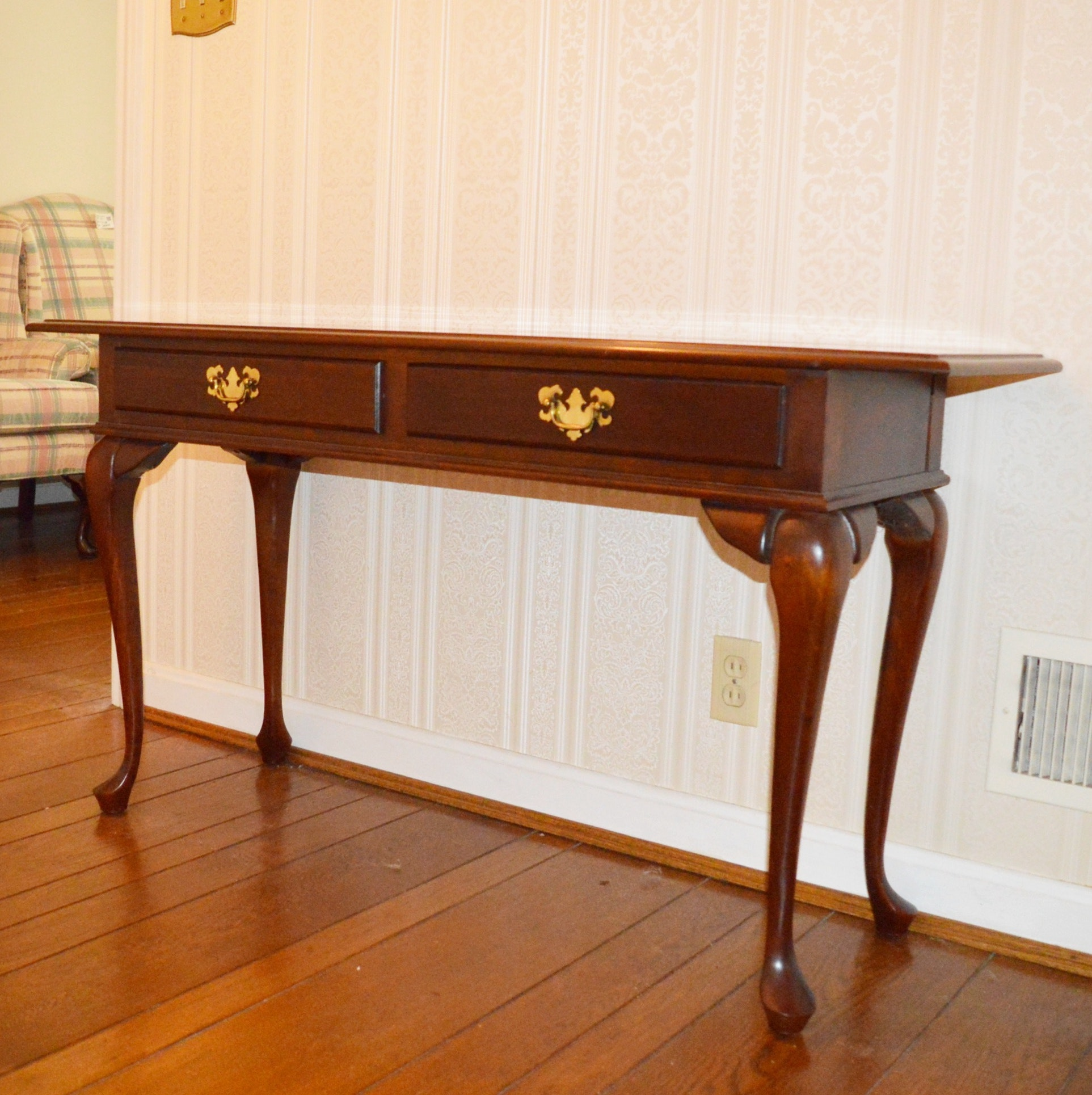 Mahogany Entry Table by Cresent Furniture