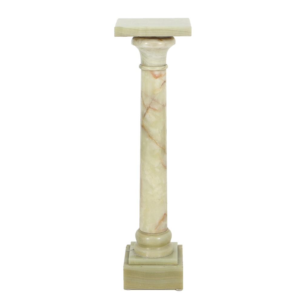 Italian Carved Agate Column