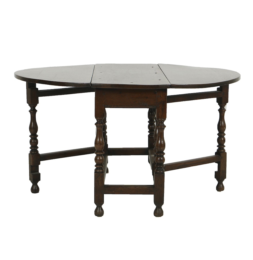 Antique English Oak Gateleg Table Circa Th Century EBTH - Antique gateleg tables