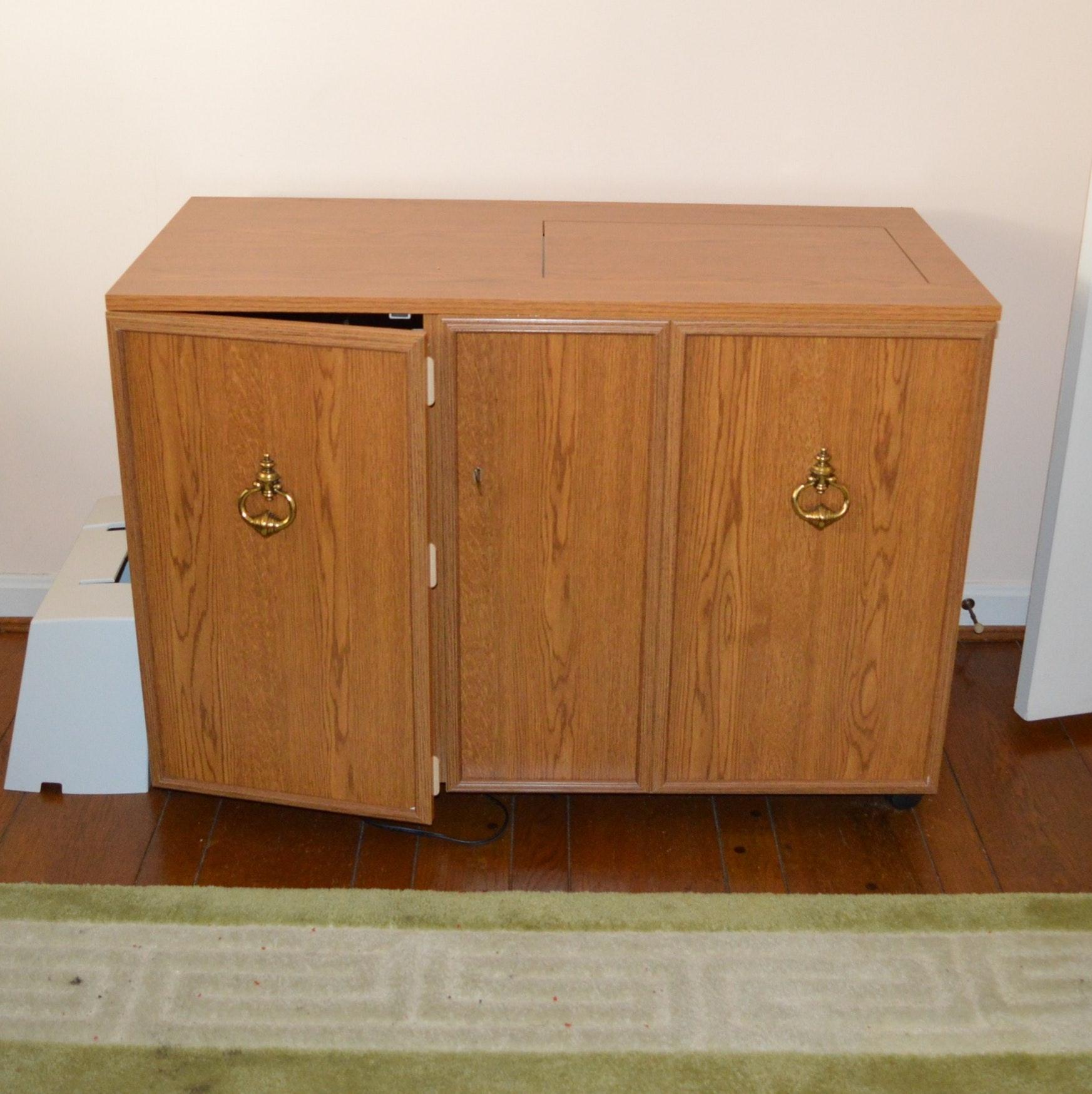Viking Sewing Machine, Singer Serger and Cabinet