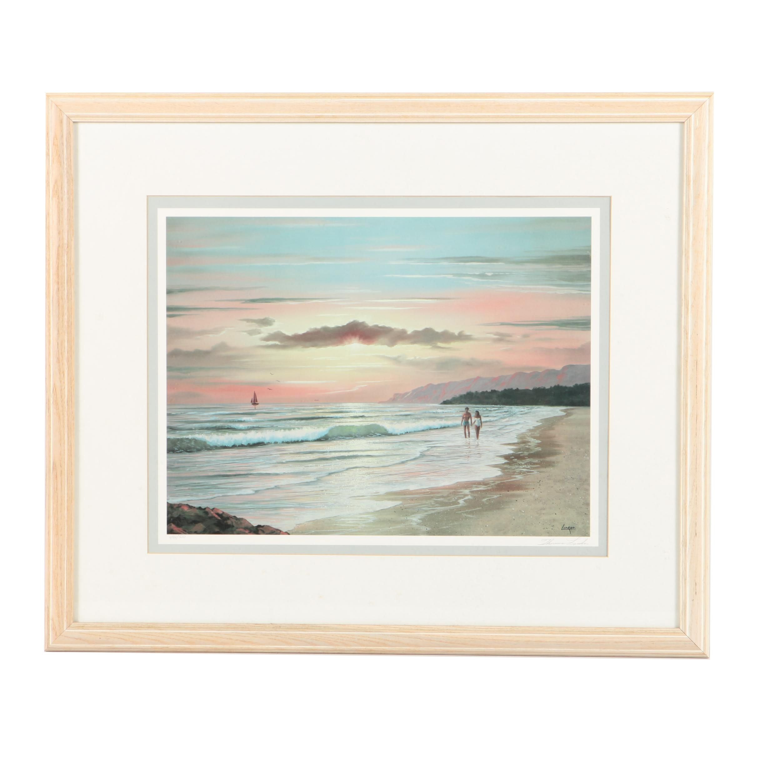"Thomas Linker Limited Edition Offset Lithograph ""Twilight Splendour"""