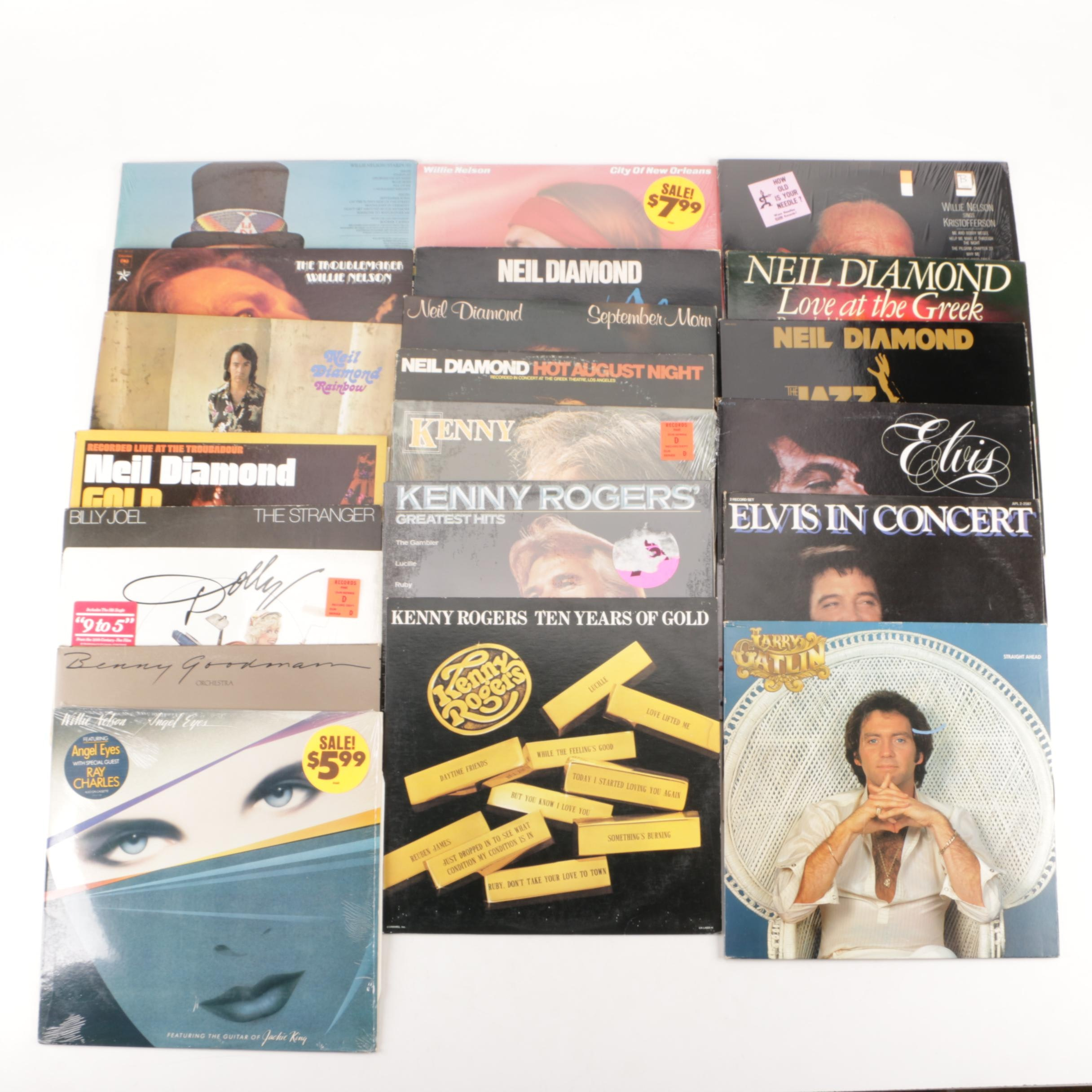 Willie Nelson, Neil Diamond, Kenny Rogers and Other Vinyl Records