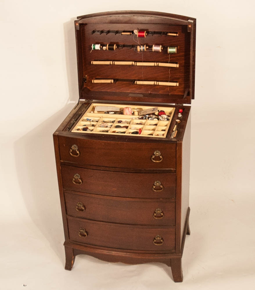 Vintage Sewing Notions Chest