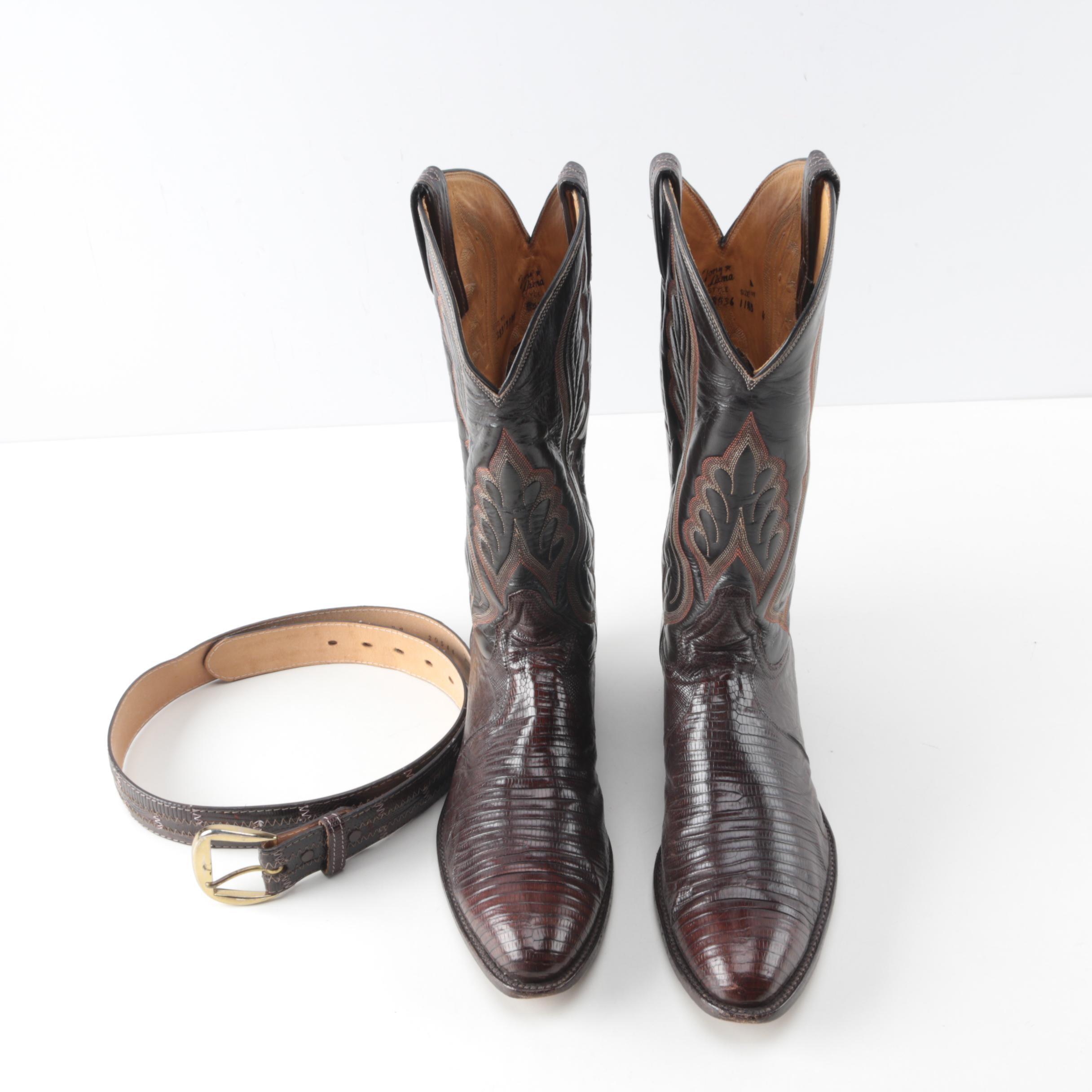 Tony Lama Boots and Belt
