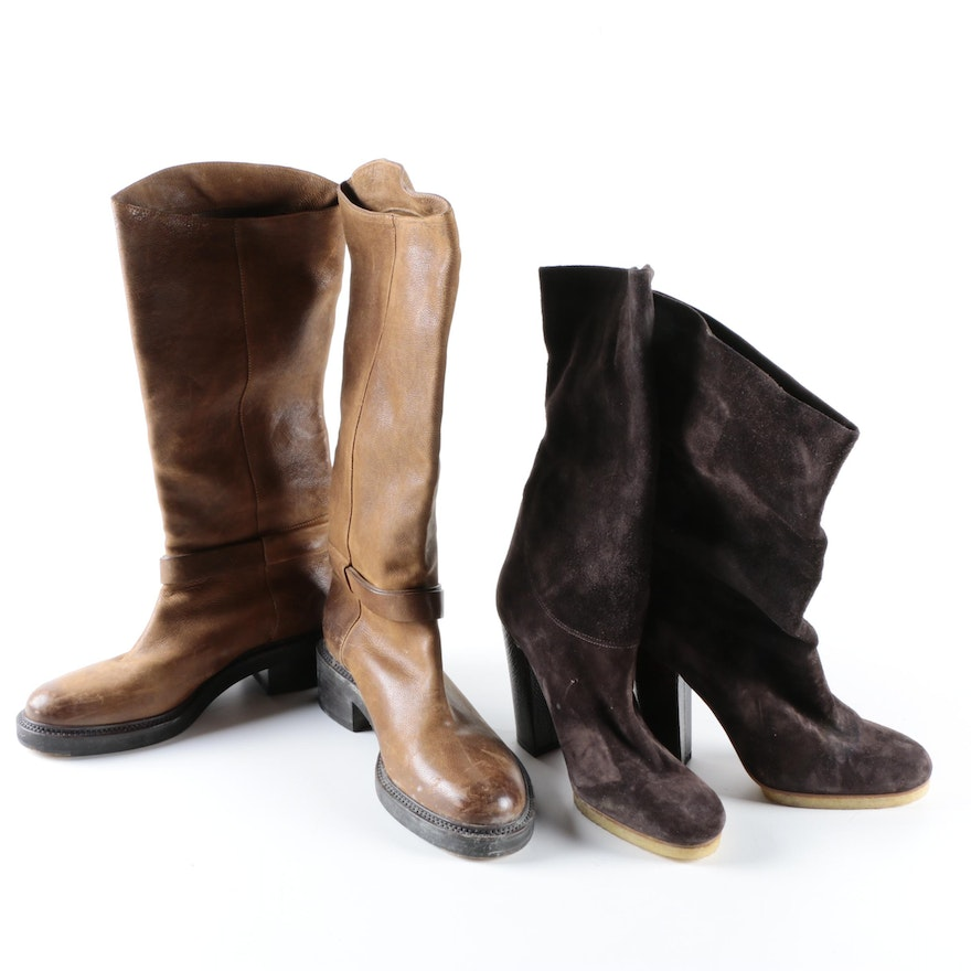 a5758cb224bd ... Cheap Price In China Online Wiki Recommend Online Sartore Leather  Mid-Calf Boots