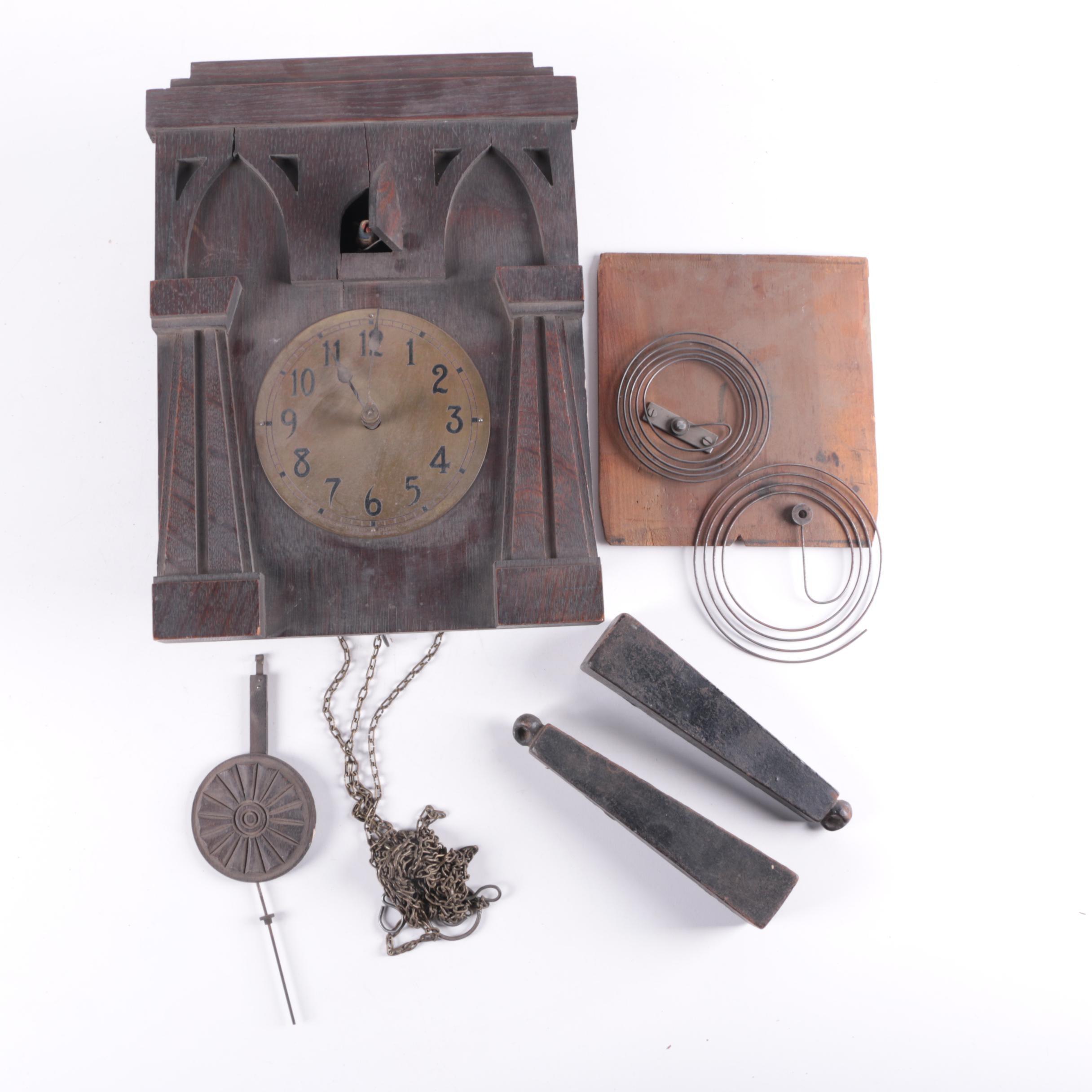 Vintage Rustic Style Cuckoo Clock