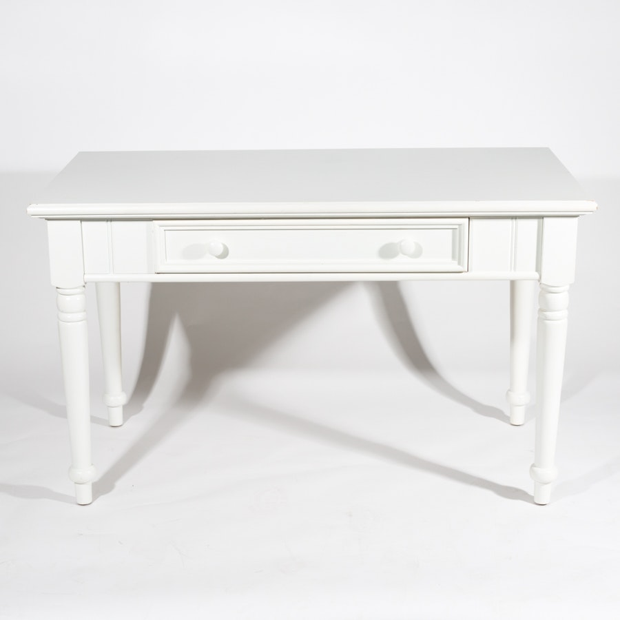 White Table with Drawer