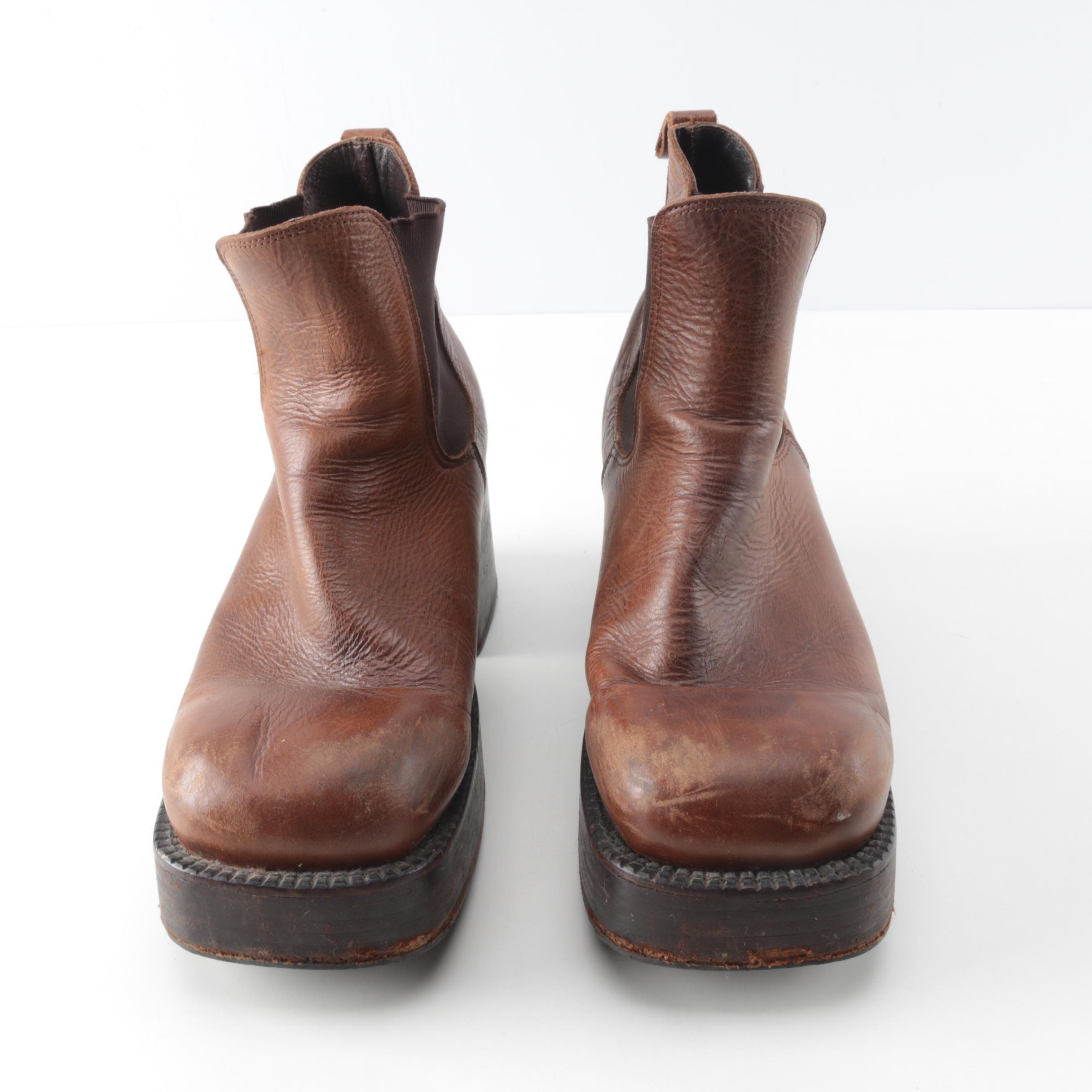Destroy Leather Platform Shoes