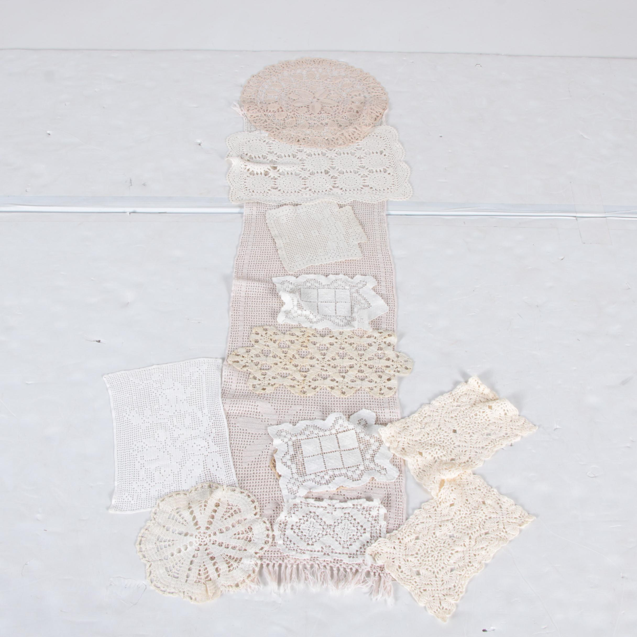 Vintage Handmade Doilies and a Dresser Scarf