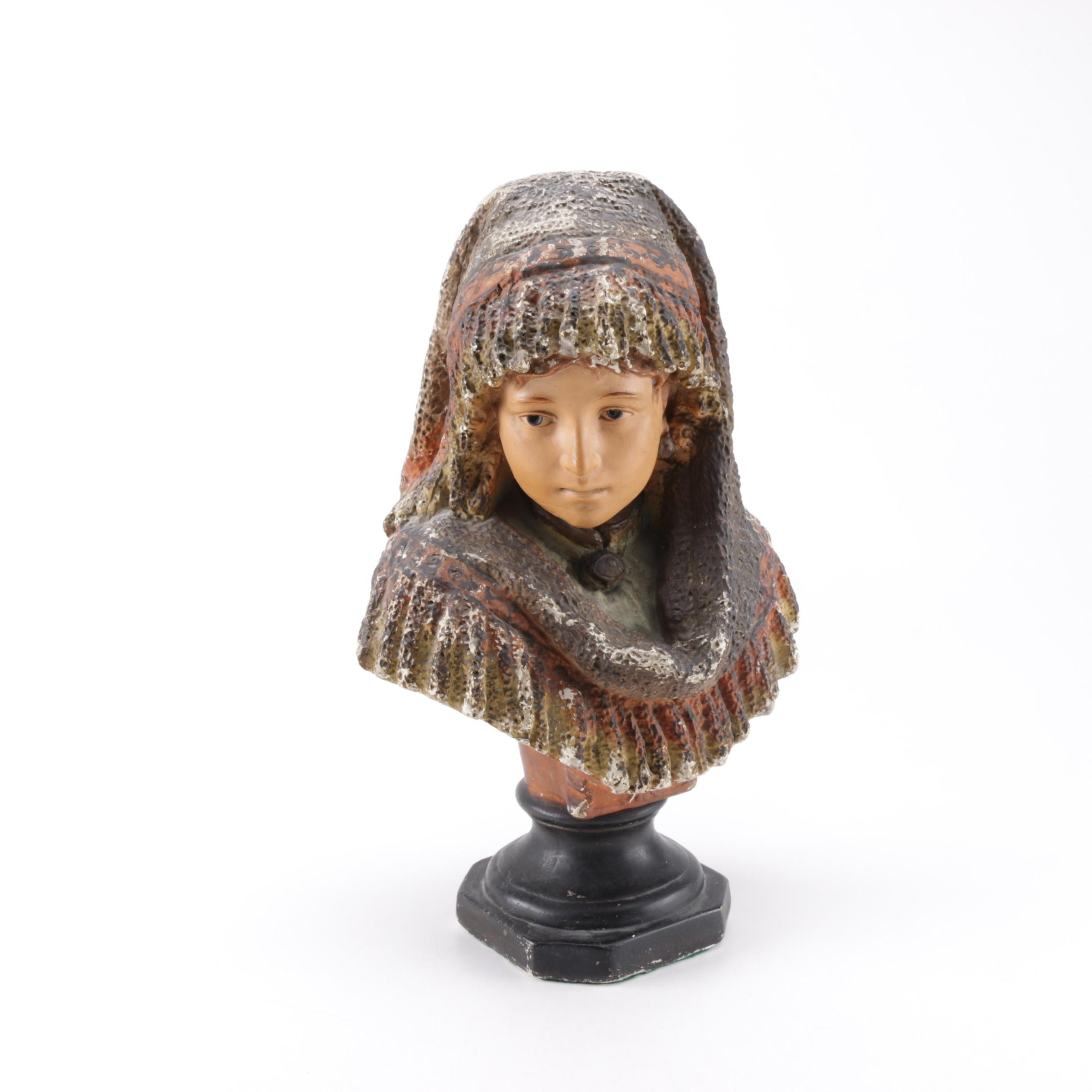 Painted Bust of Woman