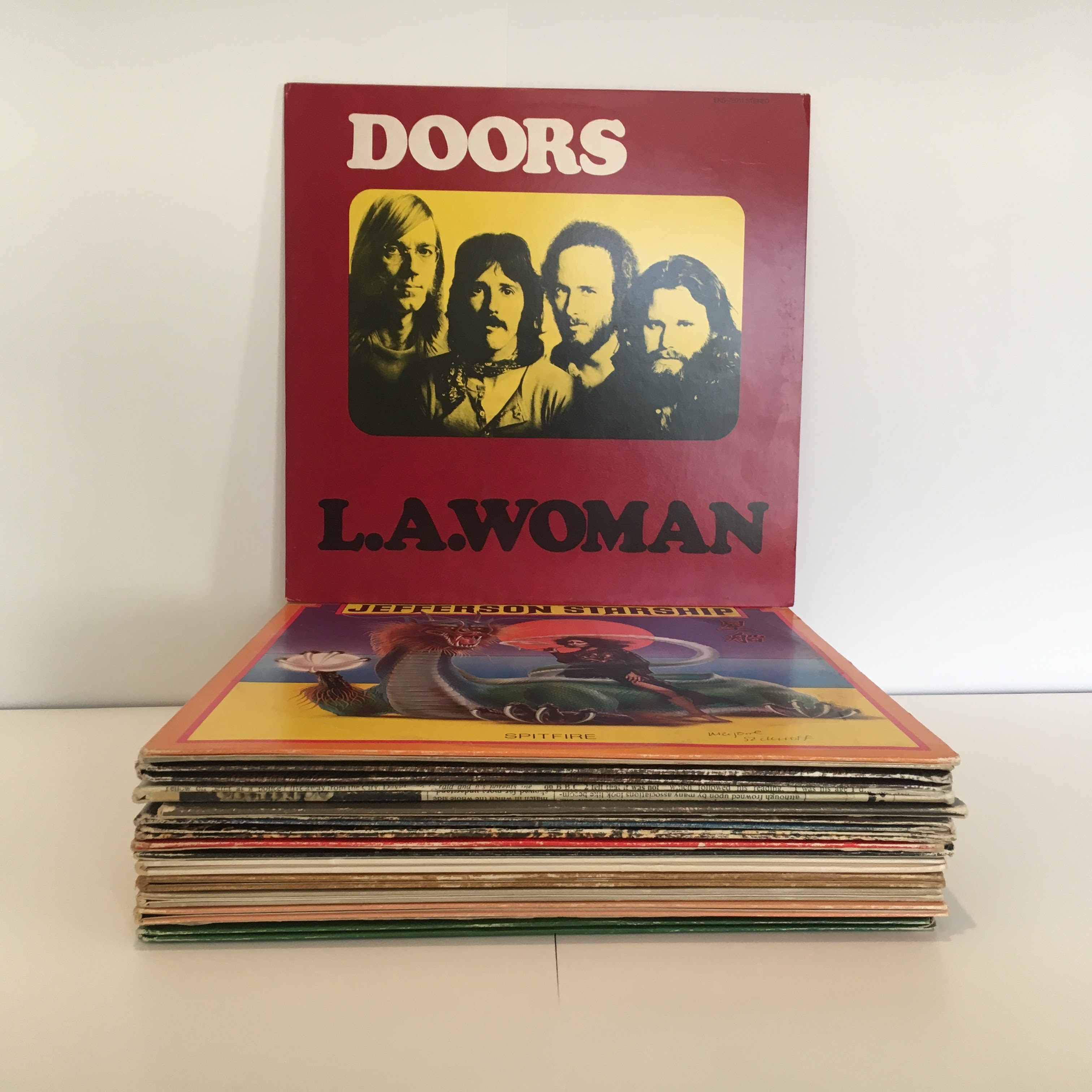 16 Vintage Classic Rock LP's including The Doors, Jefferson Starship, and More