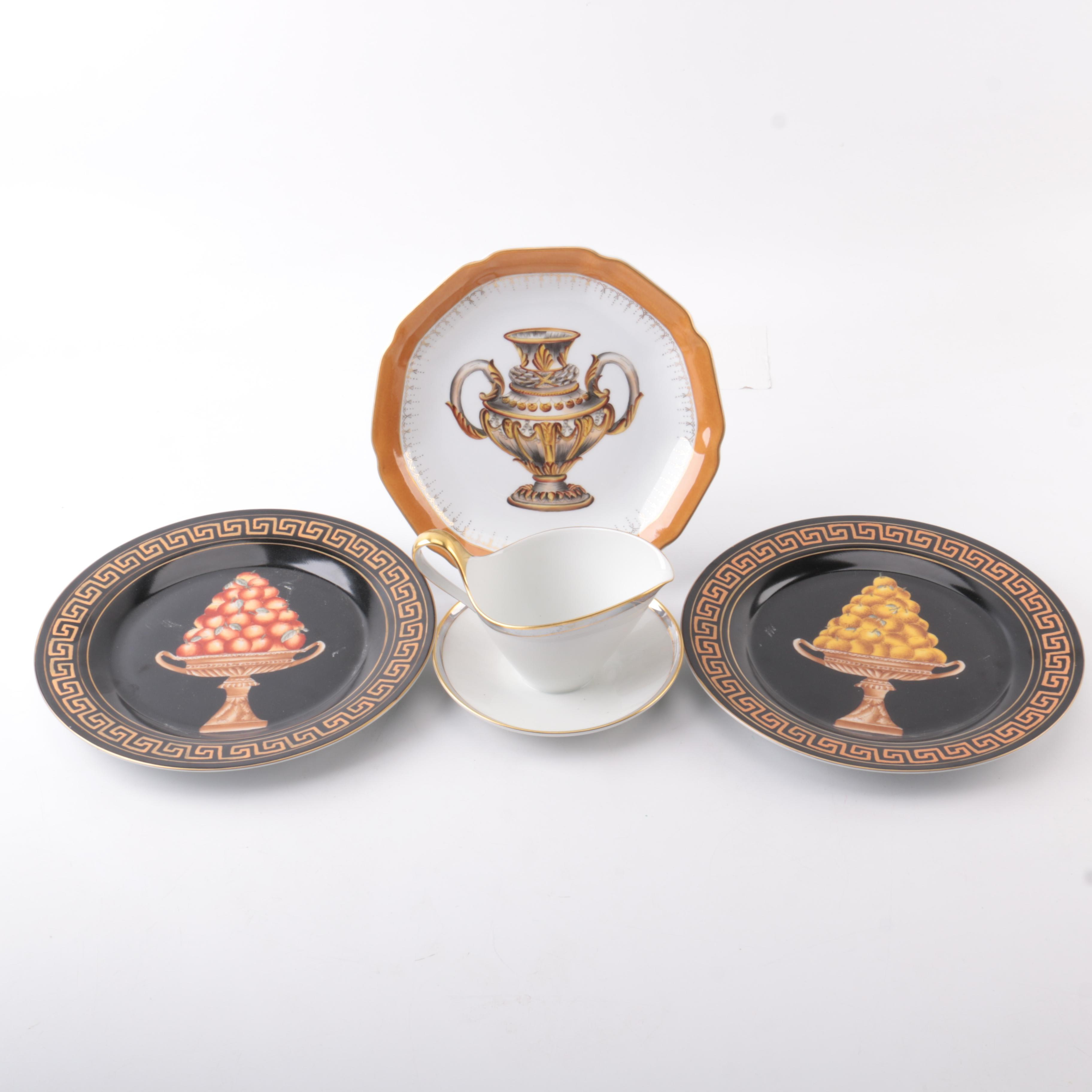 Classical Style Decorative Ceramic and Porcelain including Heinrich & Company