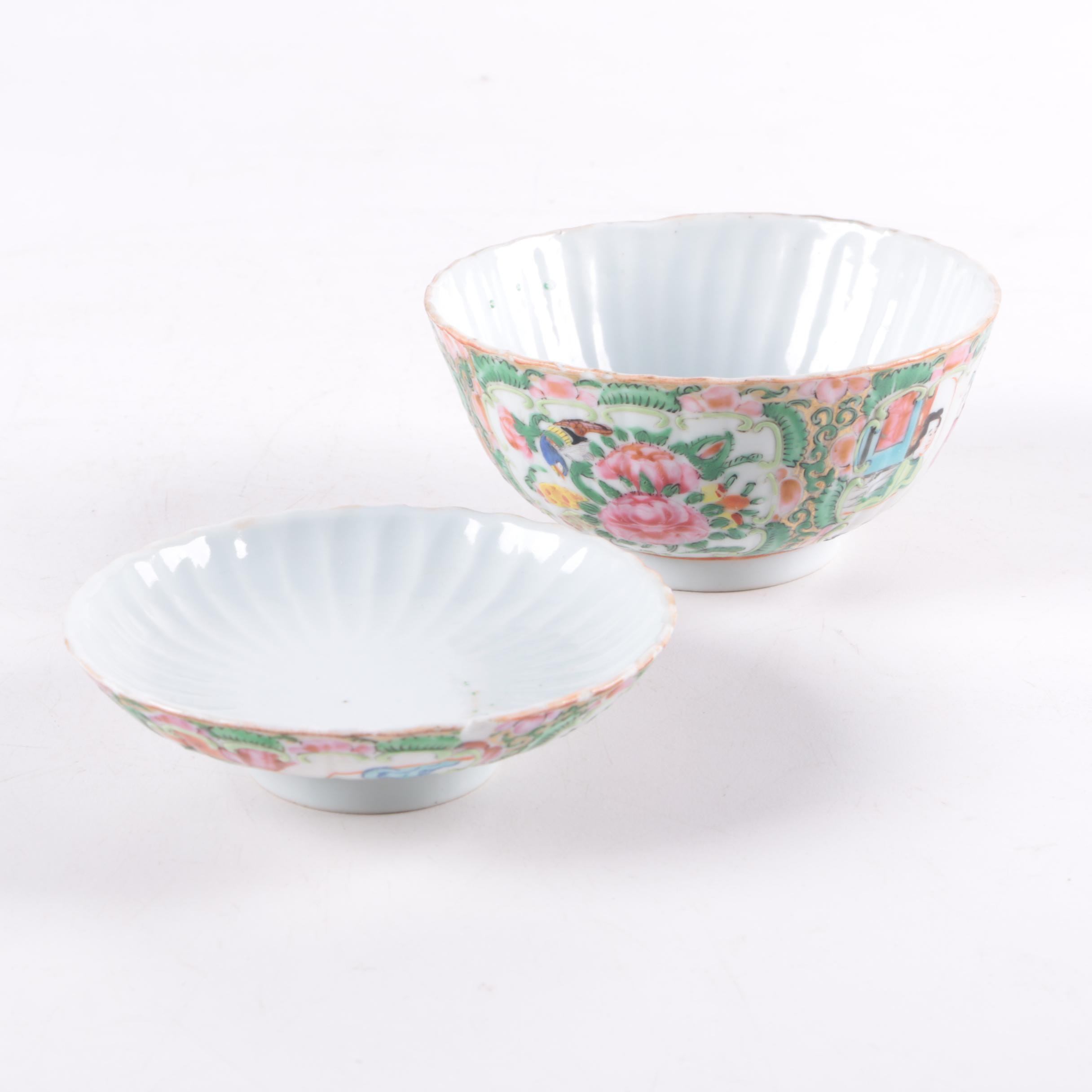 Hand Painted Famille Rose Chinese Covered Bowl