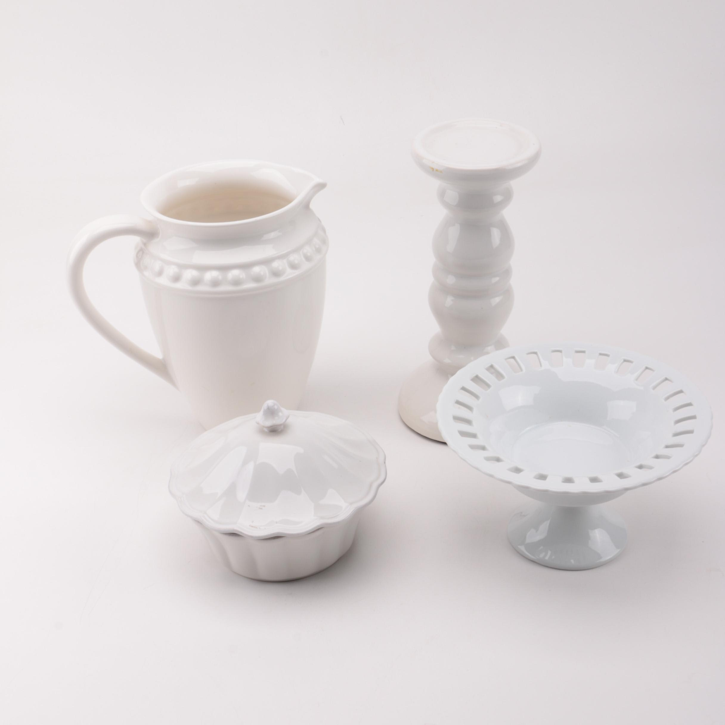 Collection of White Ceramic Home Décor