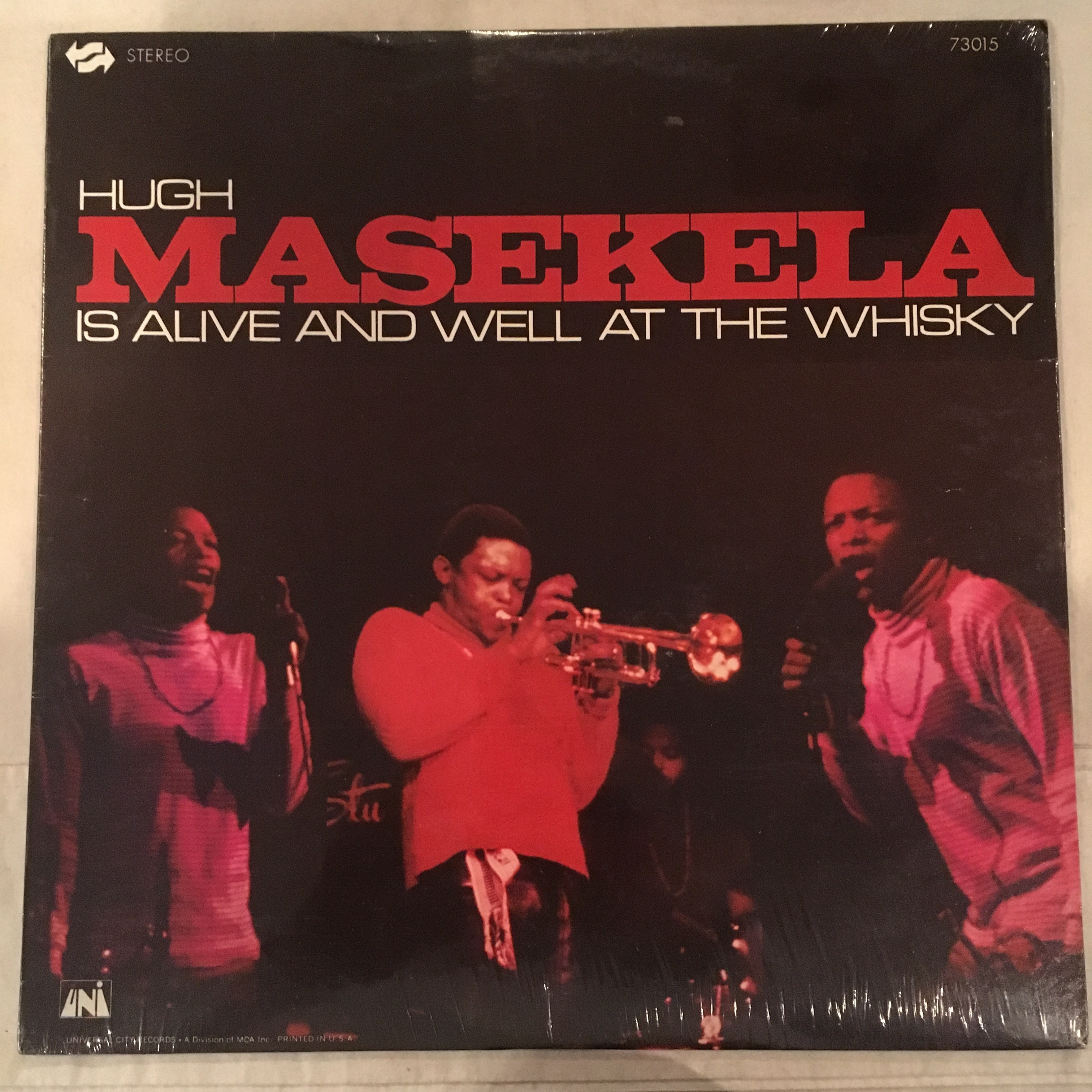 """Hugh Masekela – """"Is Alive And Well At The Whisky"""" Mint LP"""