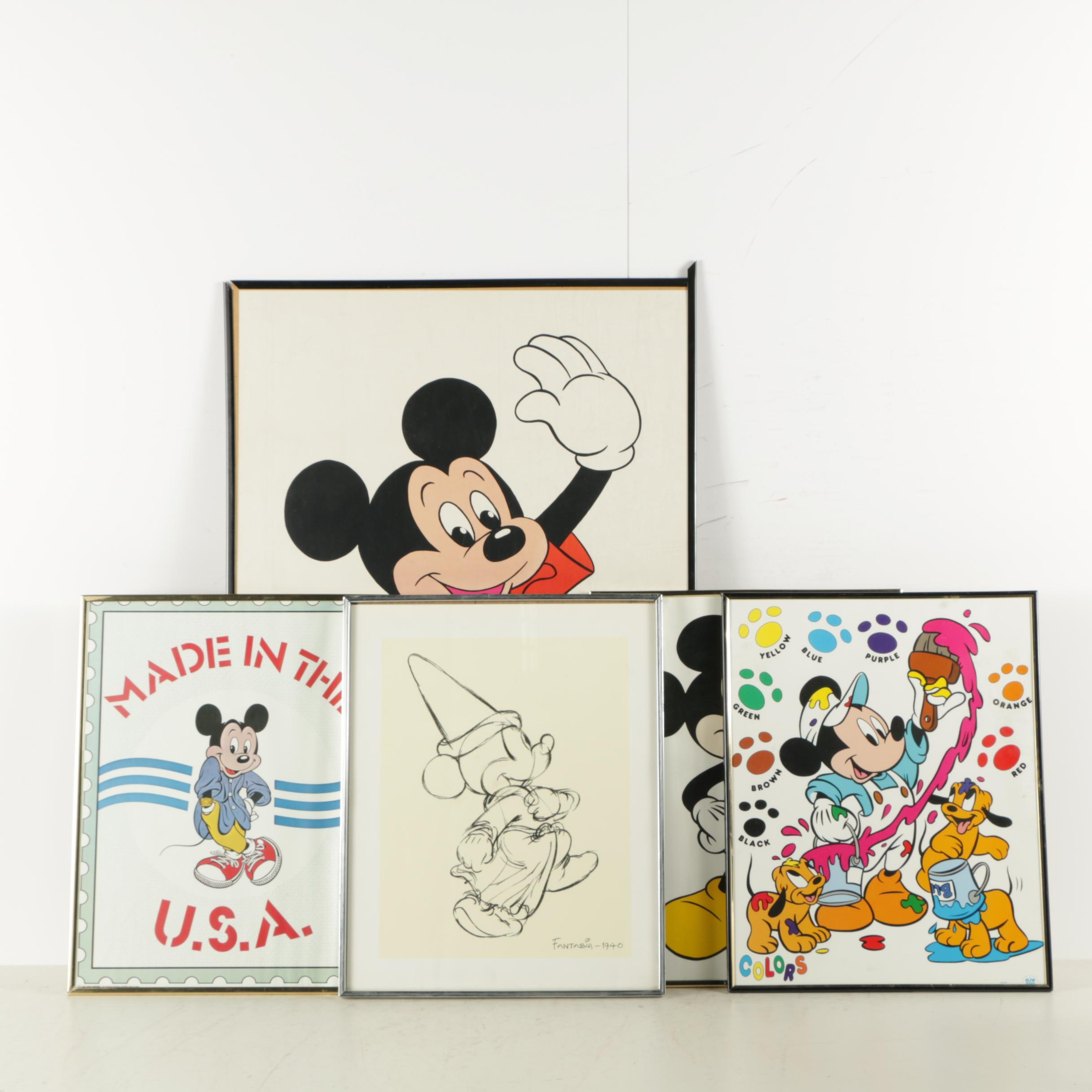 Reproduction Prints with a Serigraph of Mickey Mouse