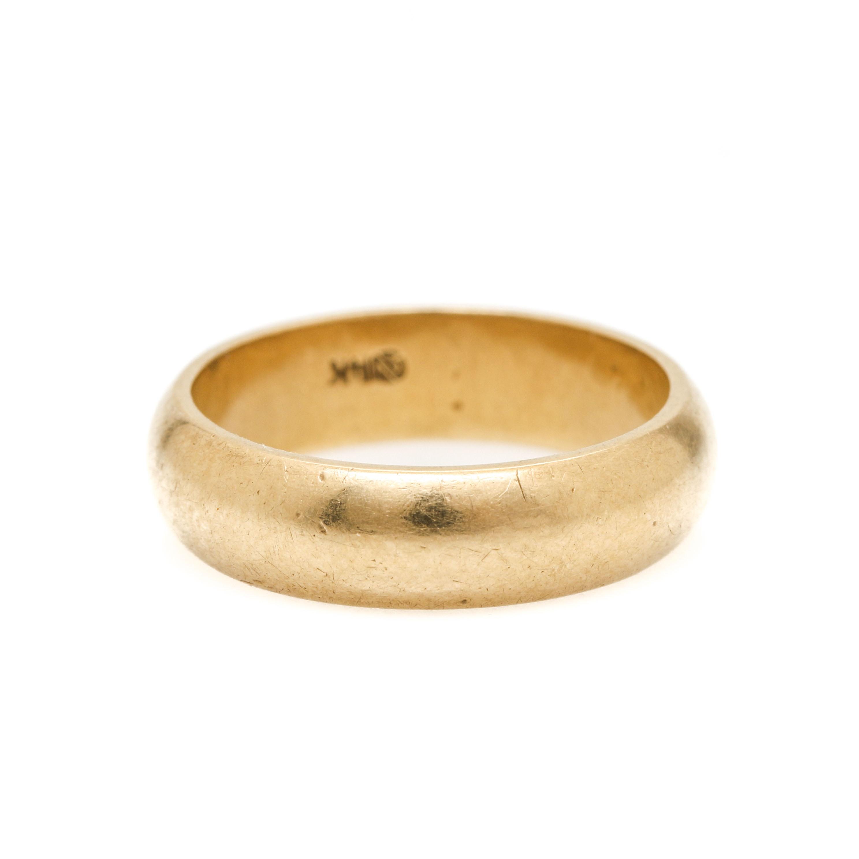 14K Yellow Gold Ring Band