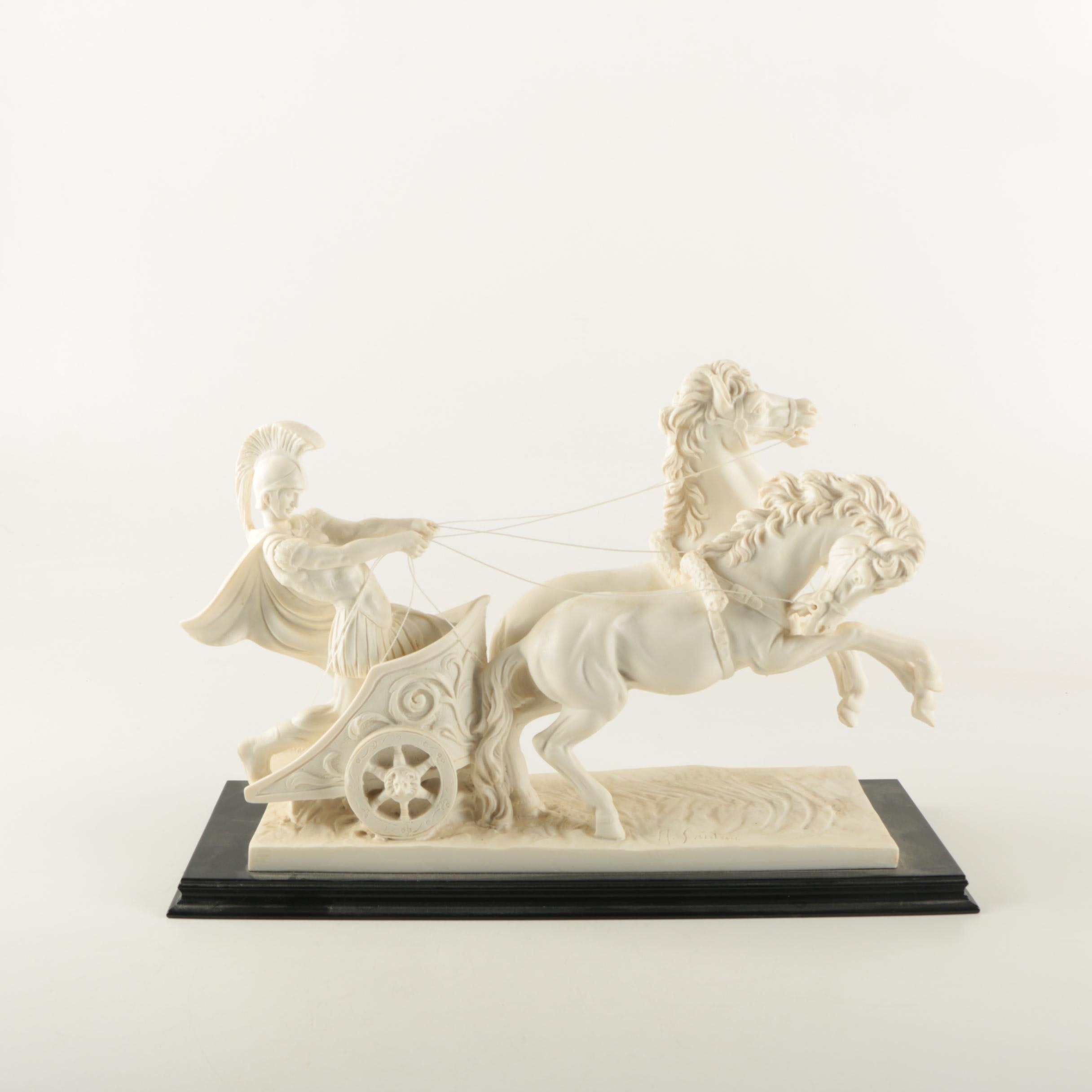 Reproduction Resin Sculpture of Roman Charioteer