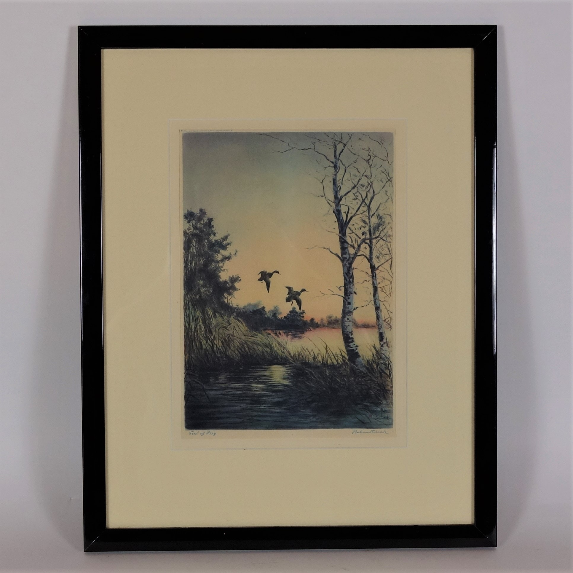 """""""End of the Day"""" Print after Etching by Roland Clark"""