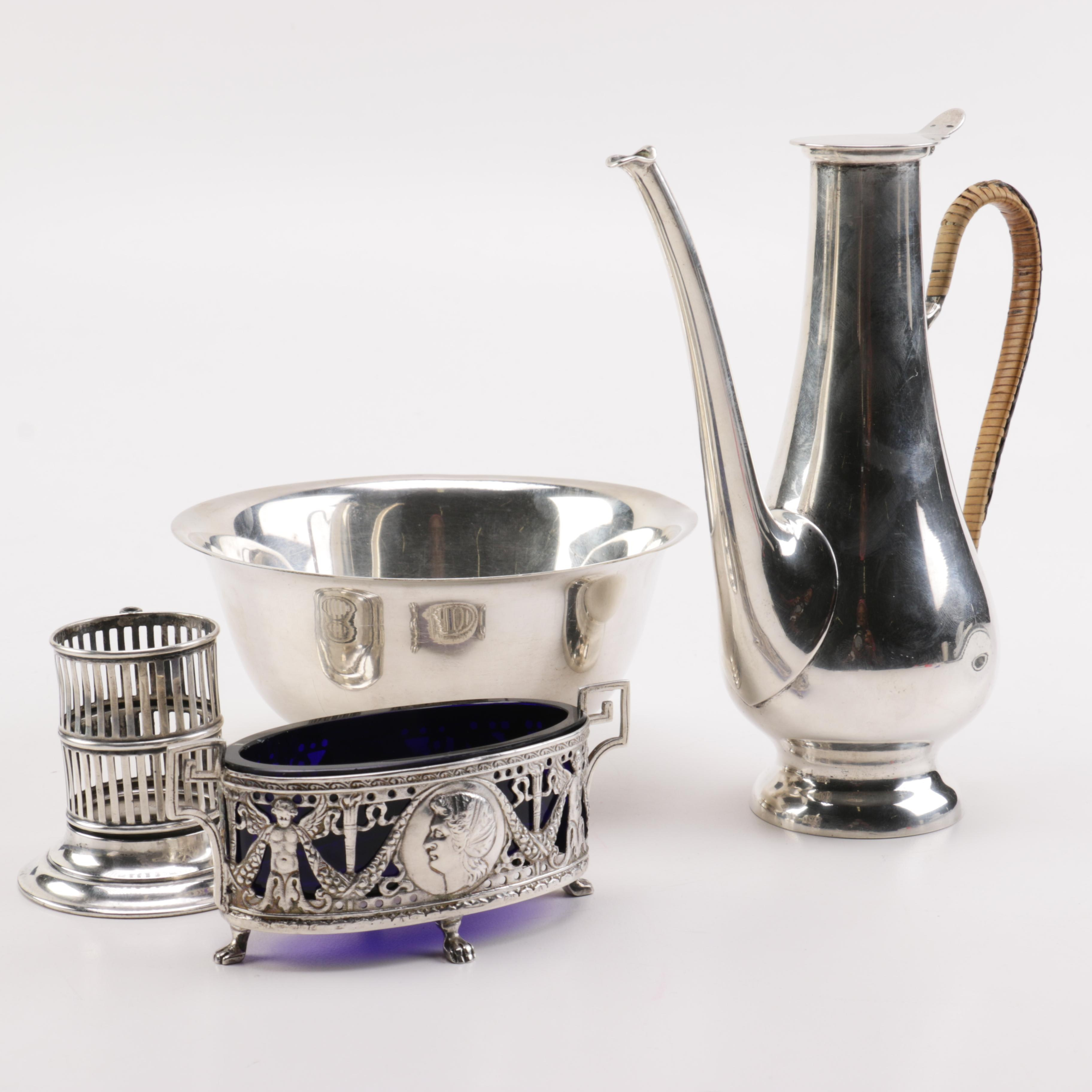 Sterling Silver and Austrian 800 Silver Servingware