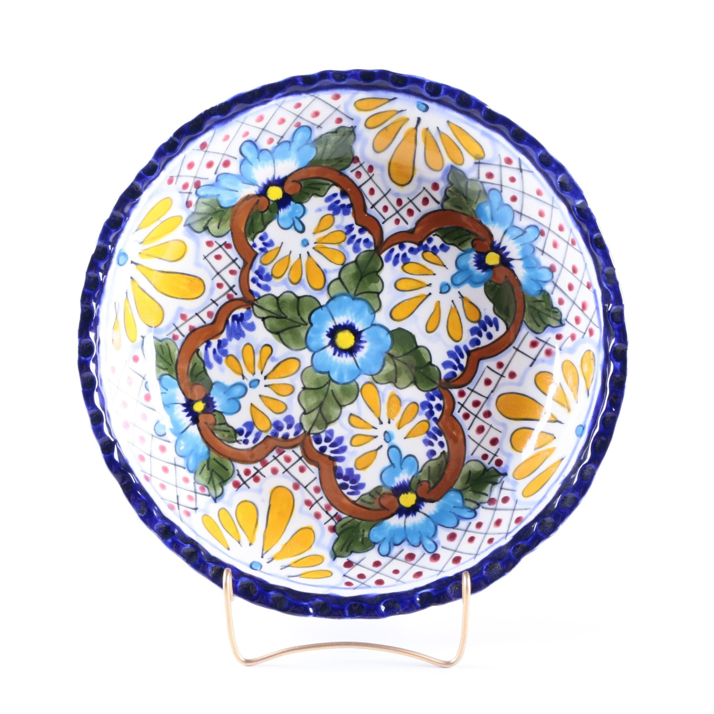 Hand-Decorated Plate from Mexico