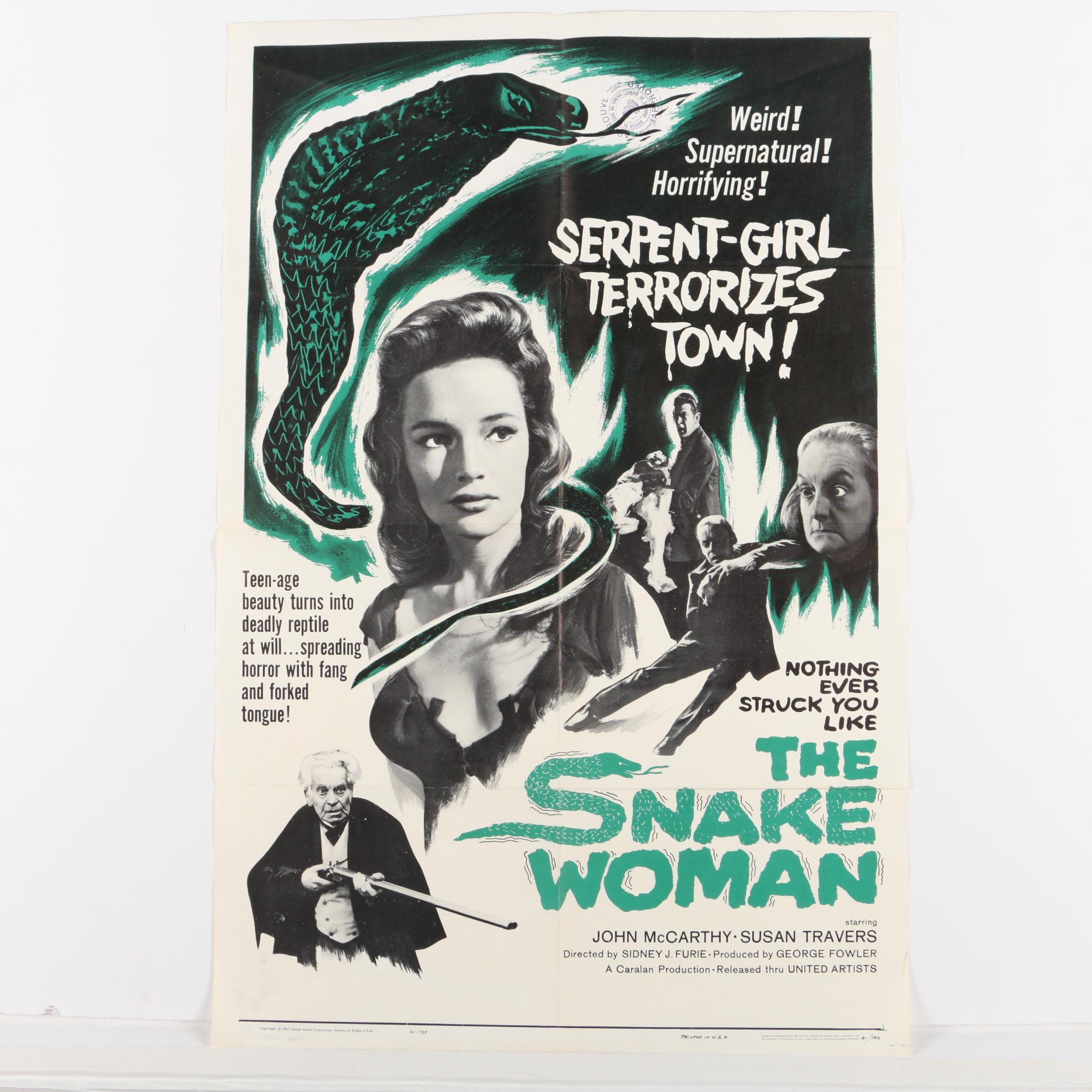 "Limited Edition Film Poster ""The Snake Woman"""