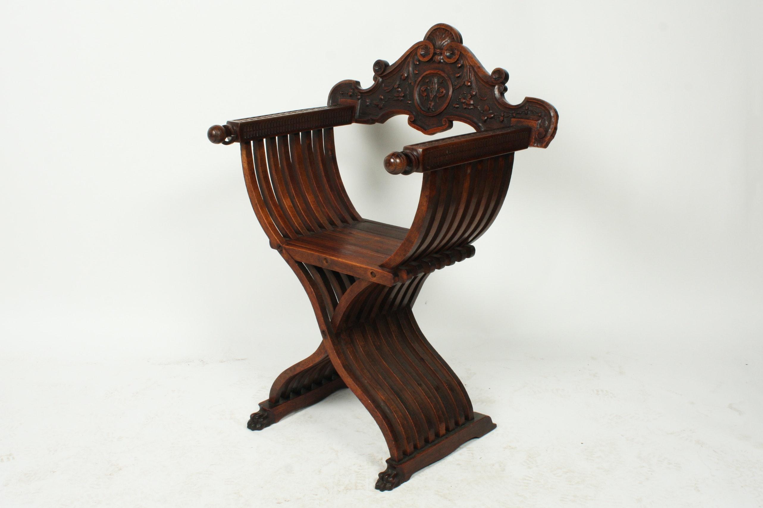 Italian Renaissance Style Savonarola Chair ... & Italian Renaissance Style Savonarola Chair : EBTH