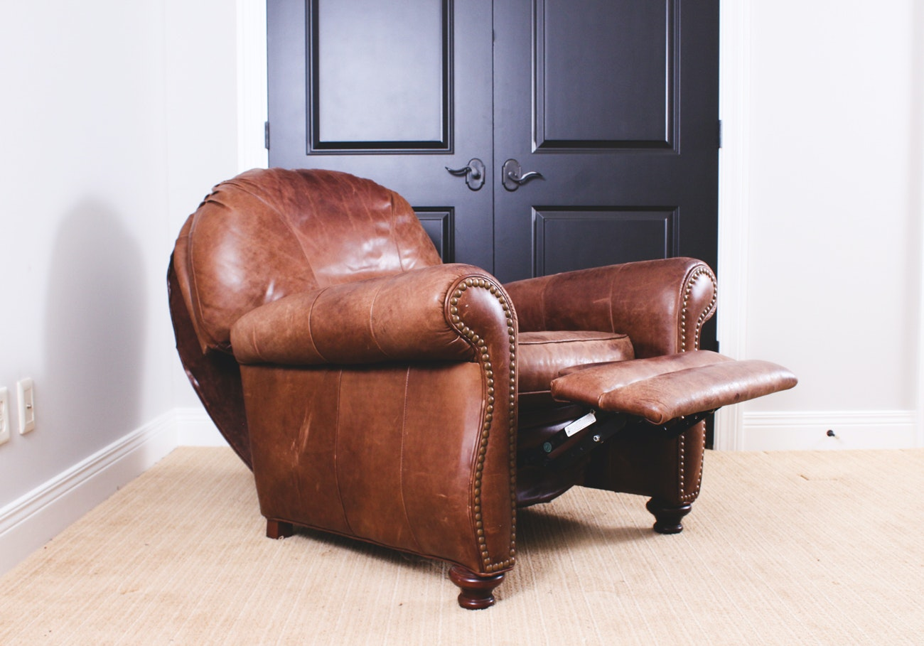 Brown Leather Recliner by Bradington Young