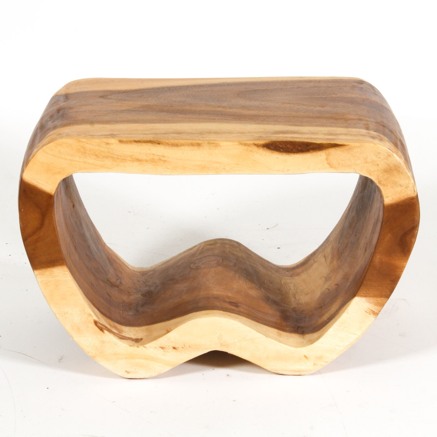 Modernist Natural Wood Side Table