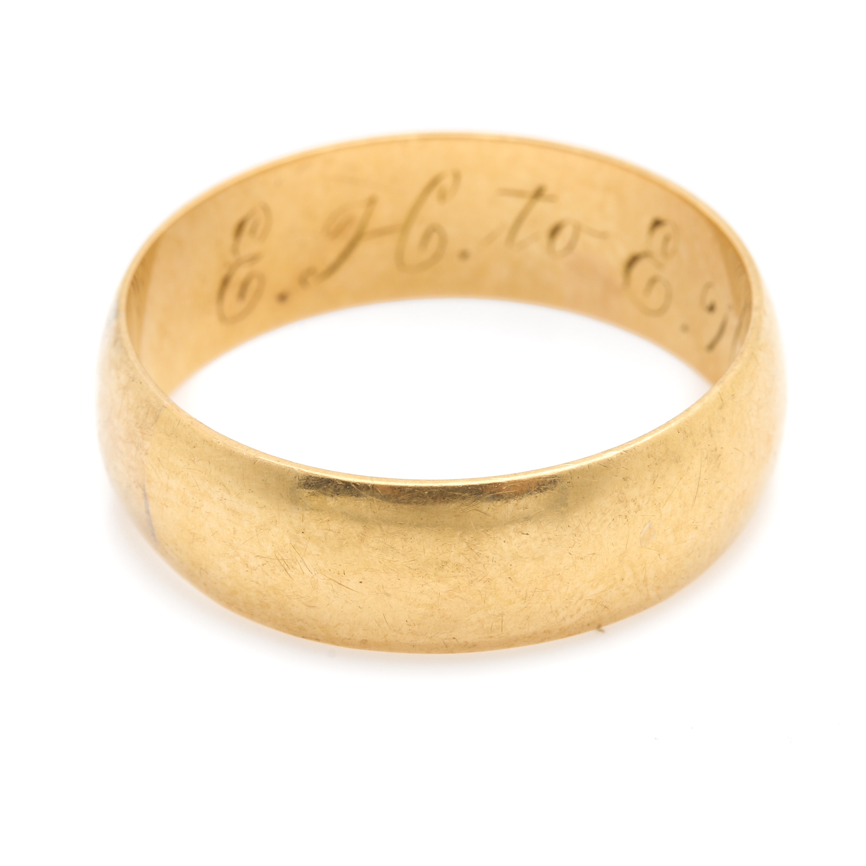 Antique 18K Yellow Gold Band