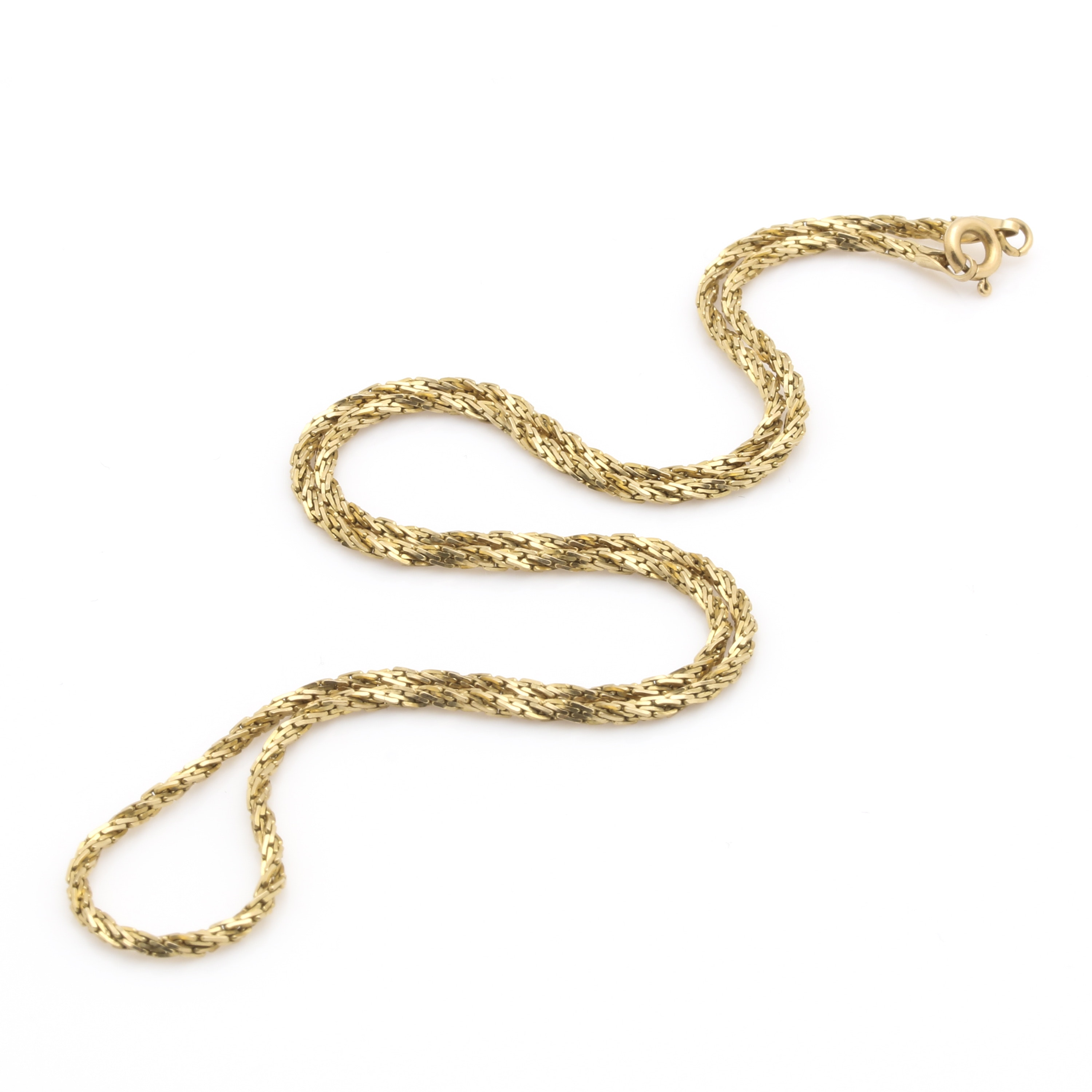 14K Yellow Gold Custom Link Necklace