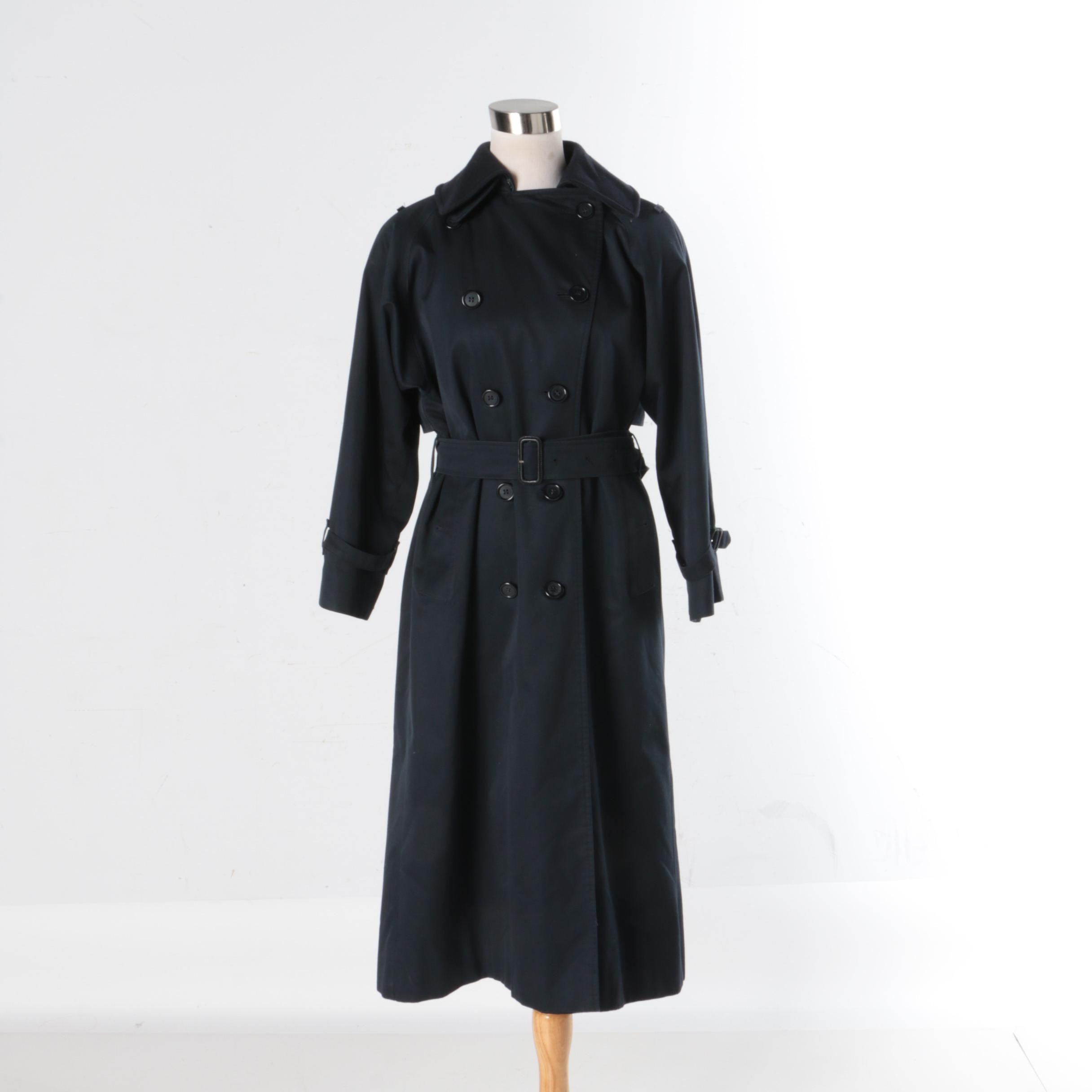 Women's Burberry Trench Coat with Removable Wool Lining