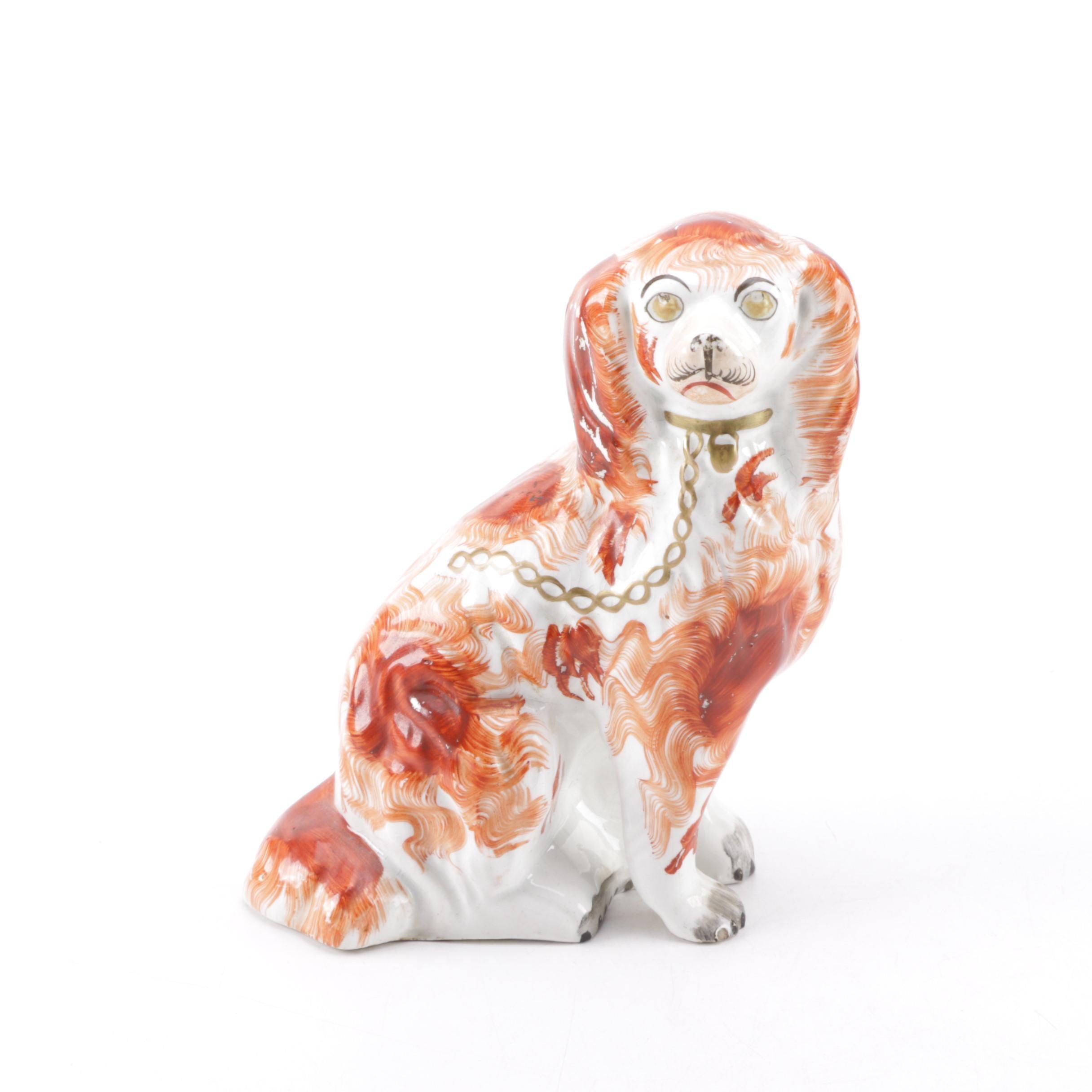 Staffordshire-Style Ceramic Dog Figurine