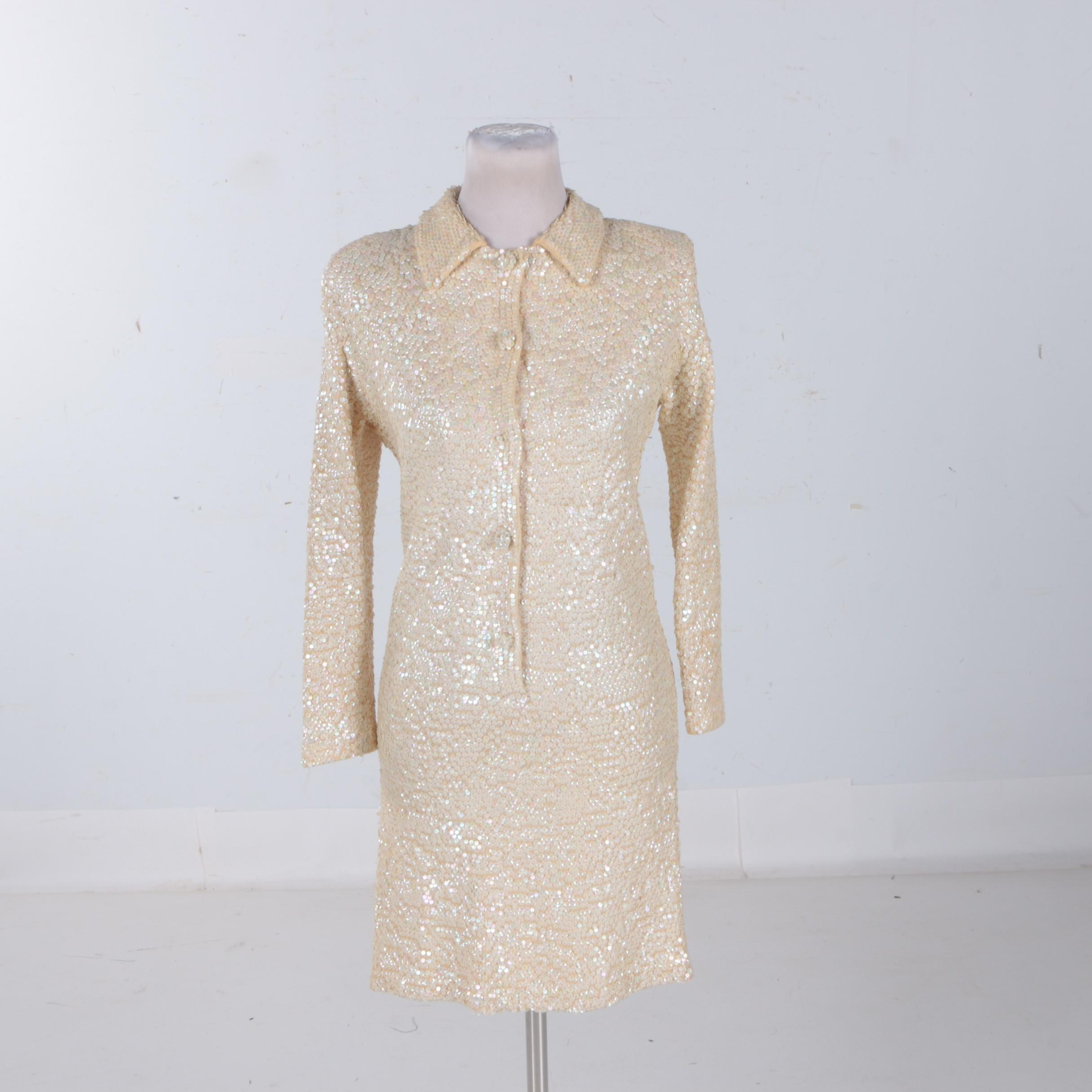 Circa 1970s Vintage Imperial Sequin Dress