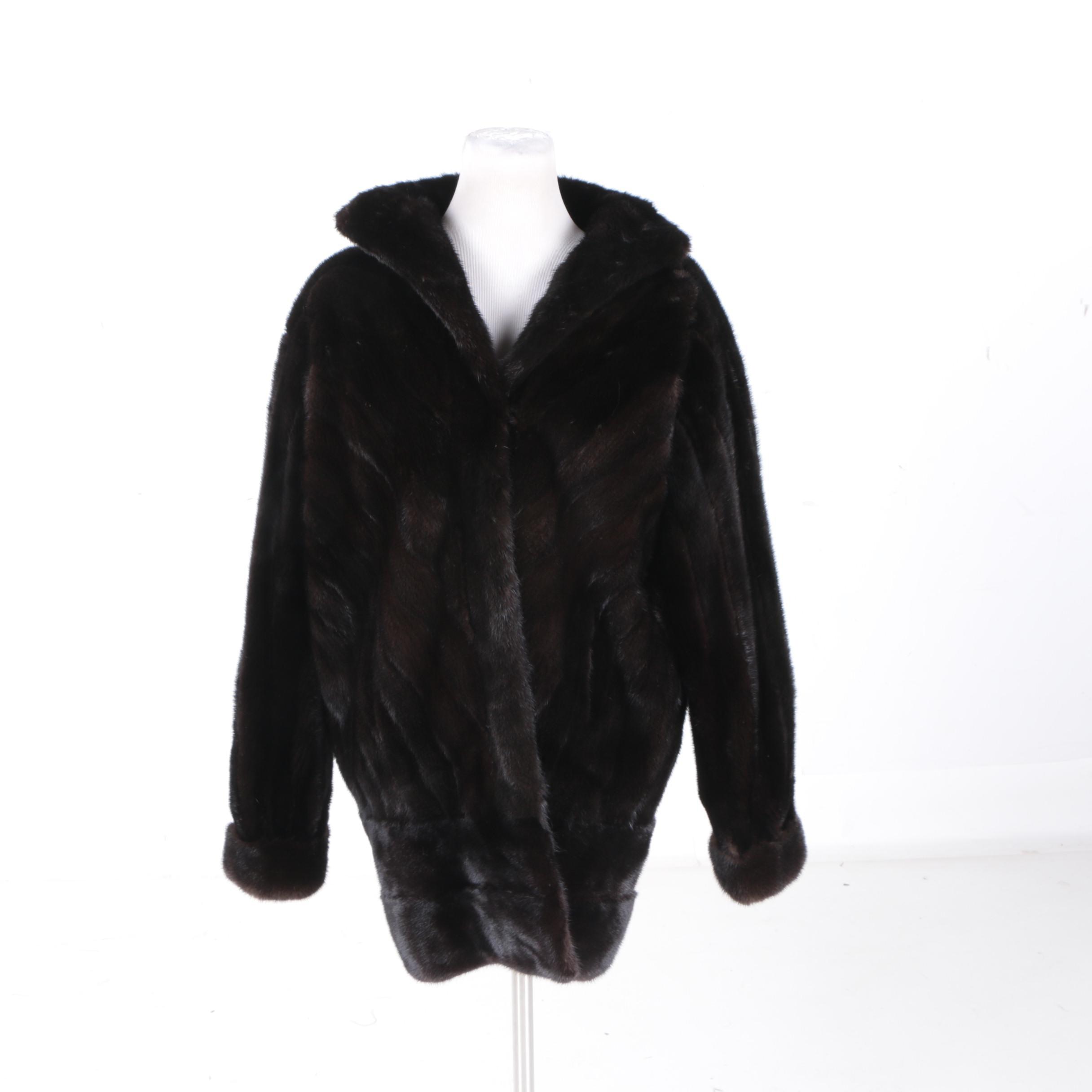 Women's Vintage Northern Lights Bloomingdale's Mink Fur Coat